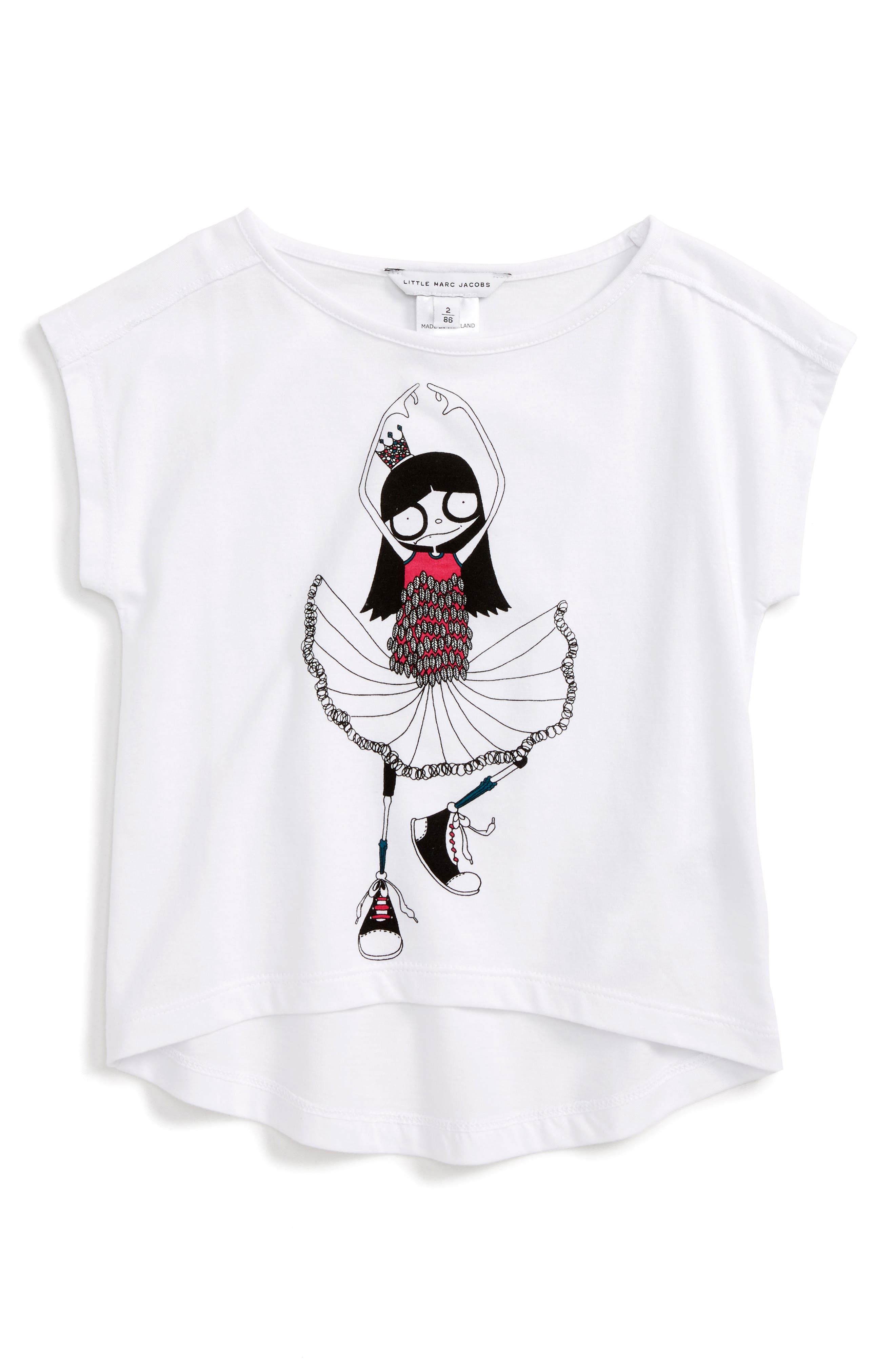 LITTLE MARC JACOBS Miss Marc Graphic Tee (Toddler Girls, Little Girls & Big Girls)