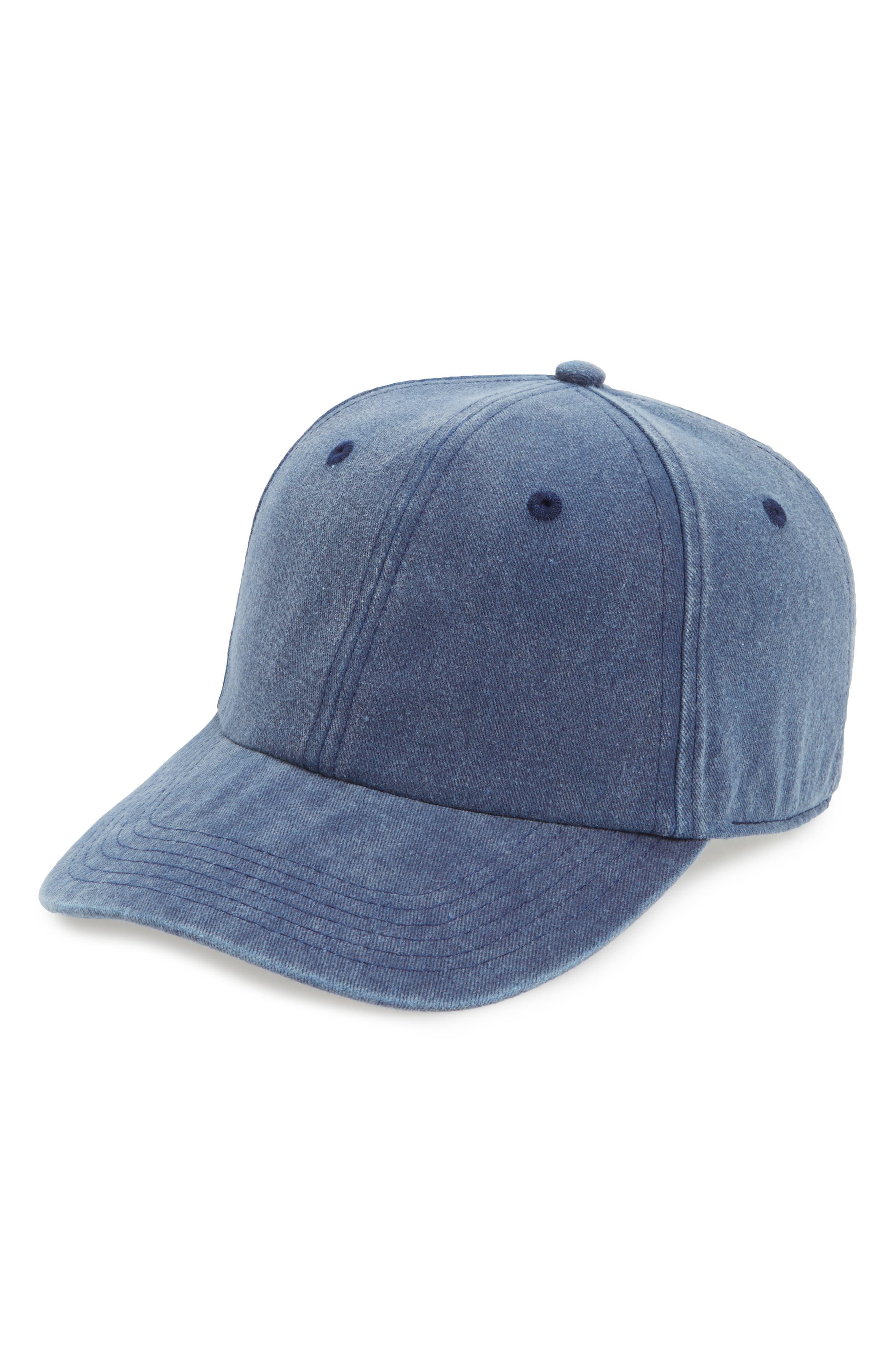 Canvas Baseball Cap,                         Main,                         color, Dark Denim
