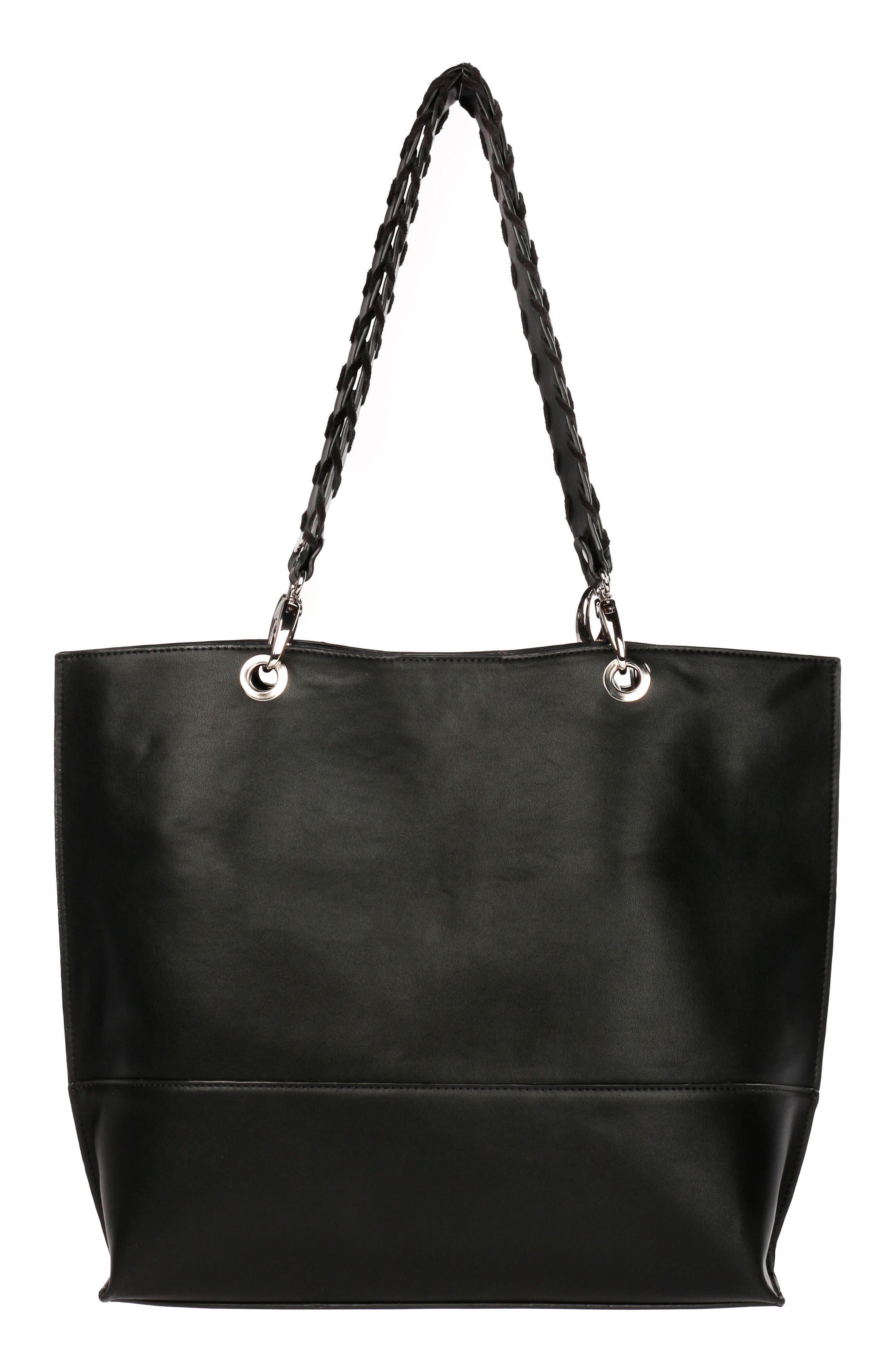 Céline Dion Espressivo Faux Leather Tote,                             Alternate thumbnail 2, color,                             Black