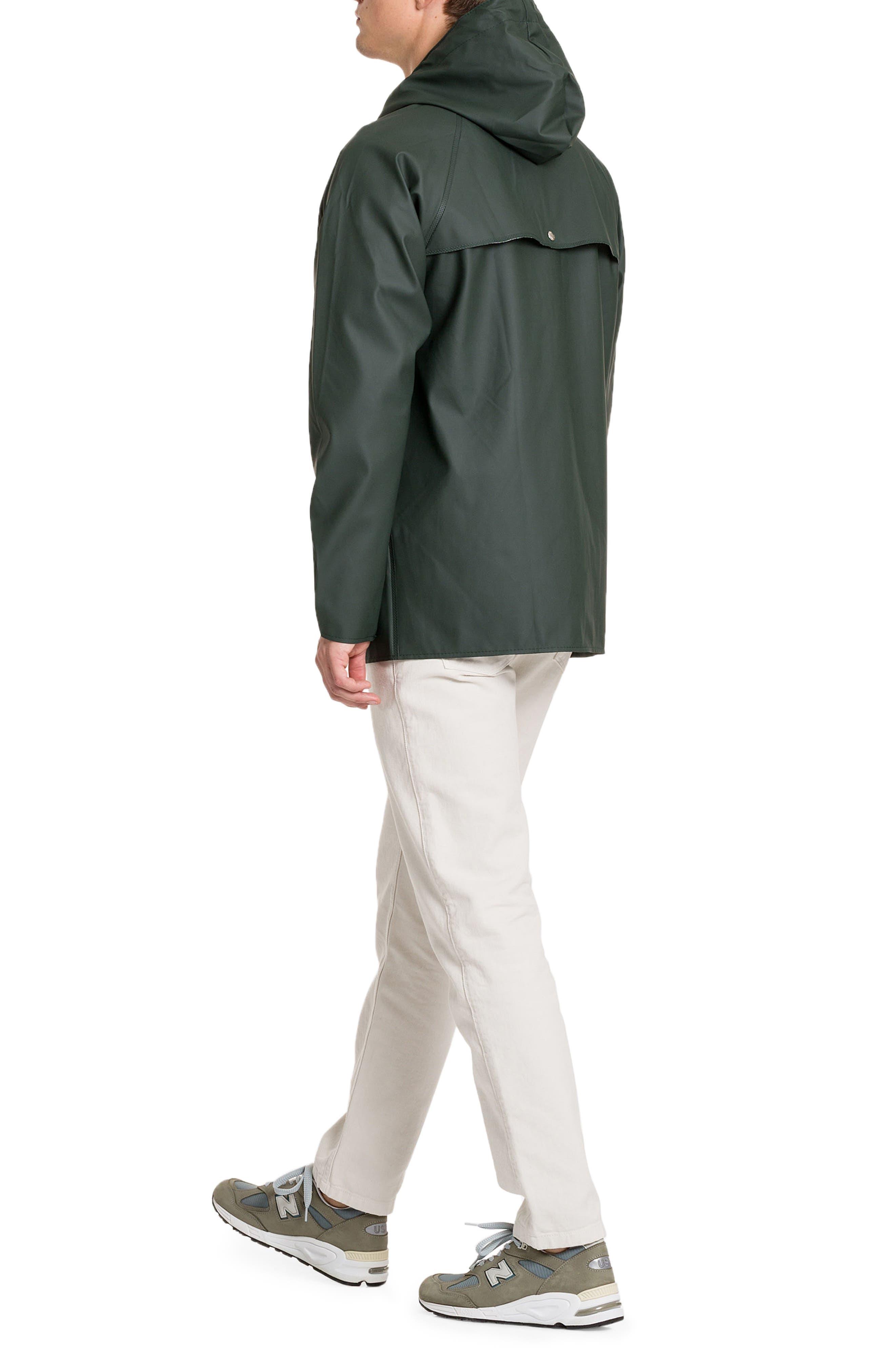 Waterproof Rain Jacket,                             Alternate thumbnail 8, color,                             Moss