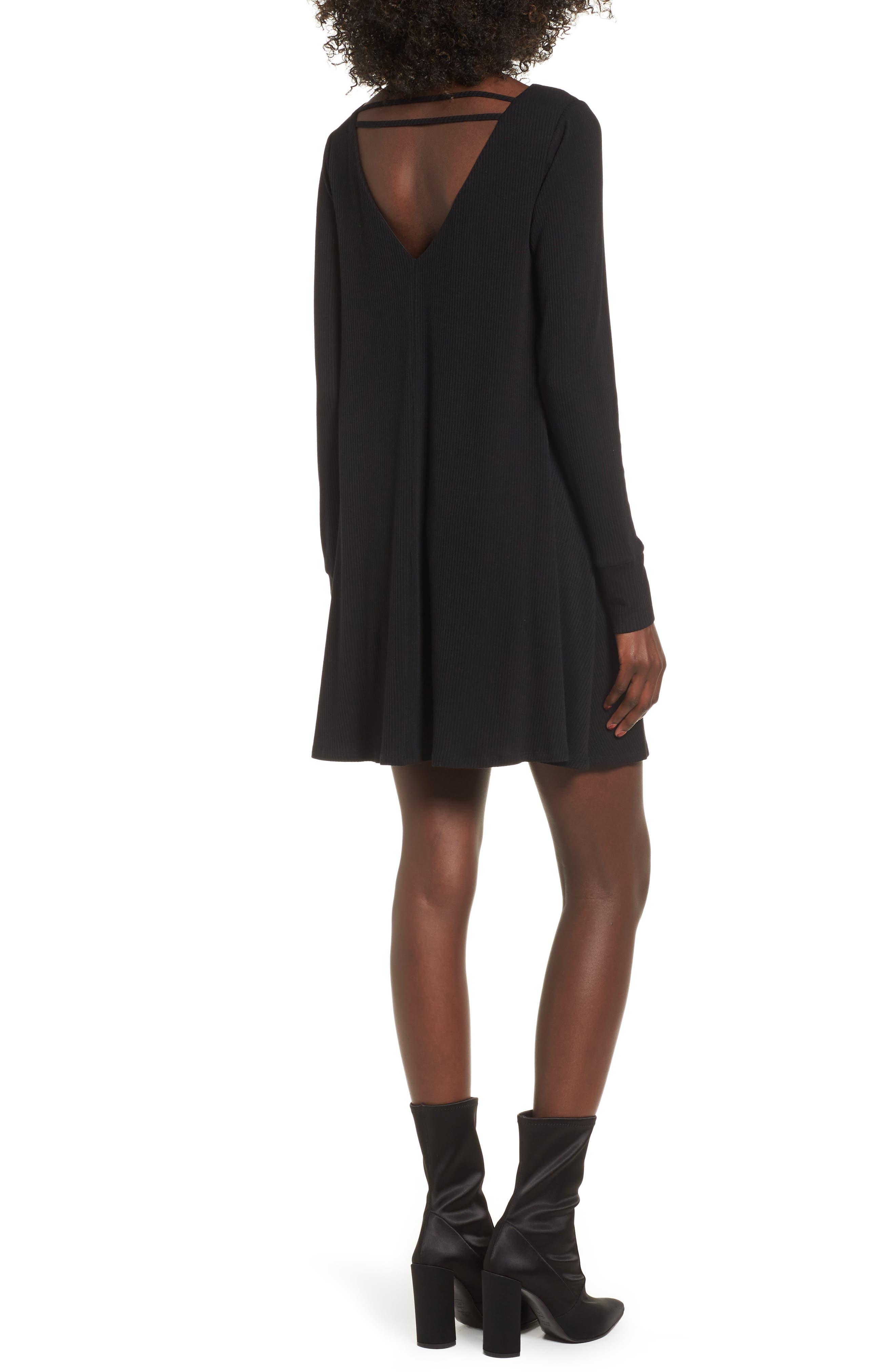 Strappy Swing Dress,                             Alternate thumbnail 2, color,                             Black