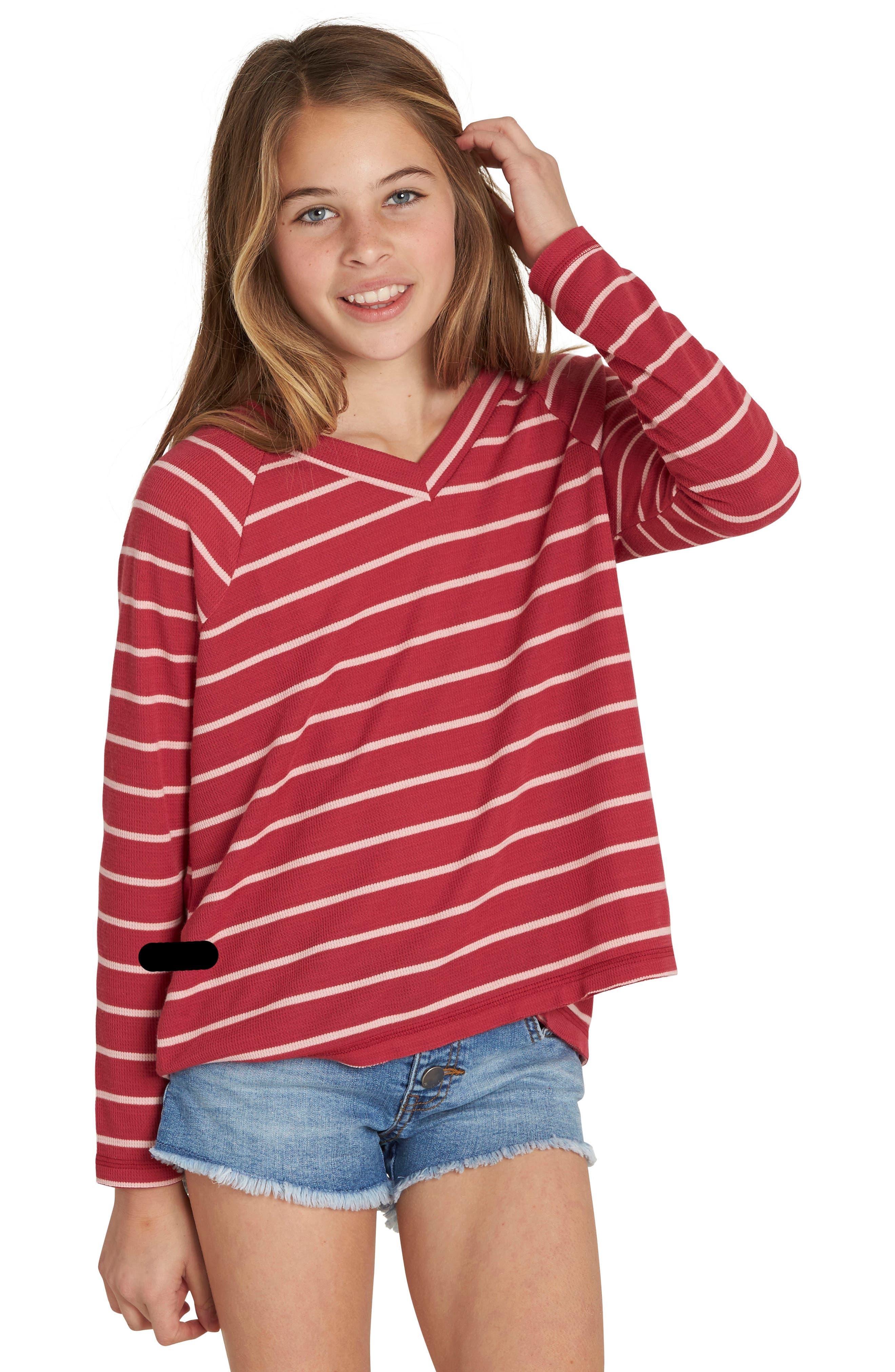 Alternate Image 1 Selected - Billabong Ocean Tides Waffle Knit Tee (Little Girls & Big Girls)