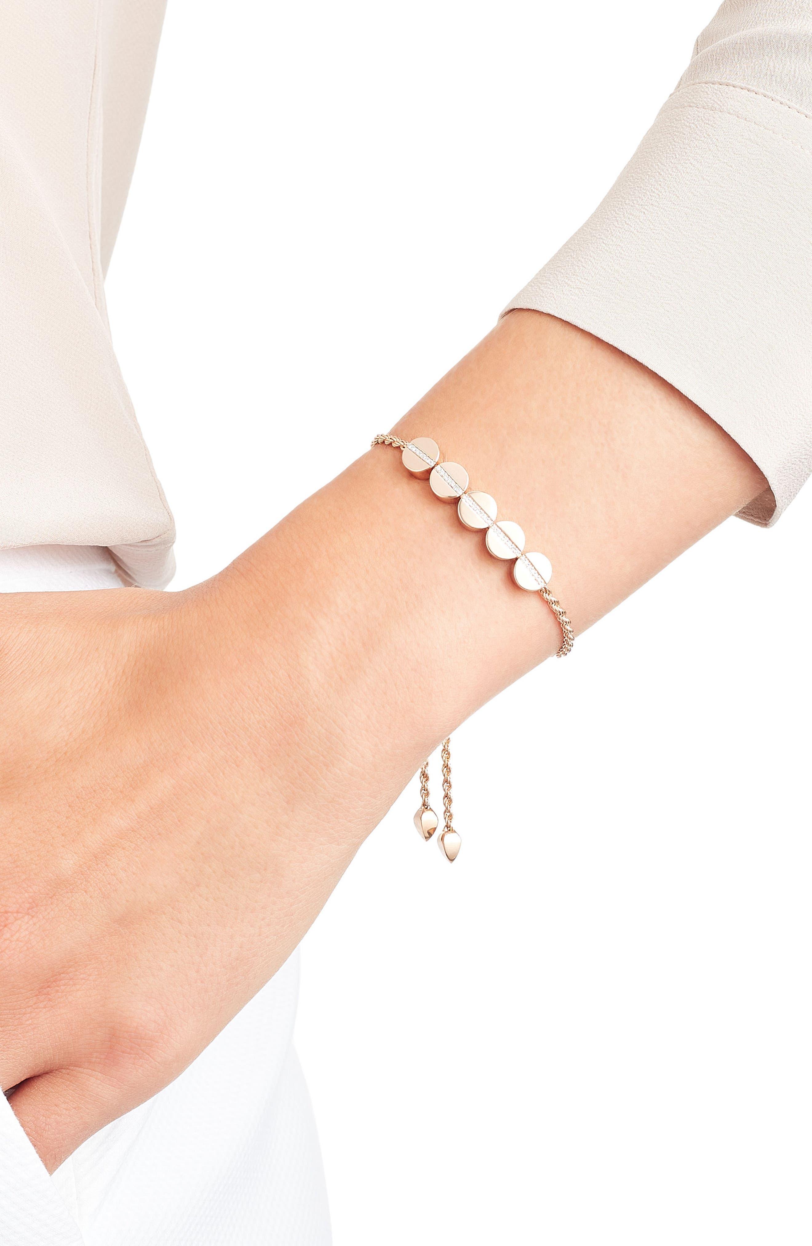 Alternate Image 2  - Monica Vinader Diamond Beaded Friendship Bracelet