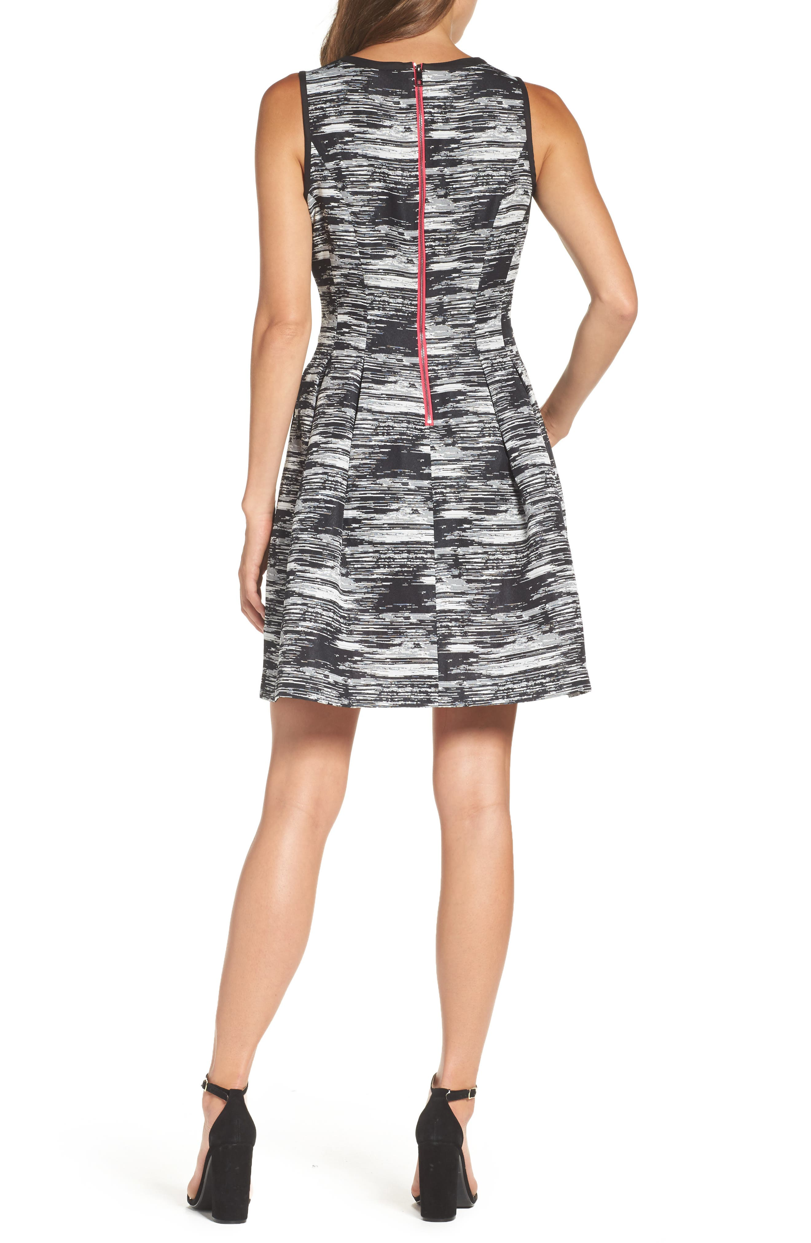 Alternate Image 2  - Vince Camuto Jacquard Fit & Flare Dress