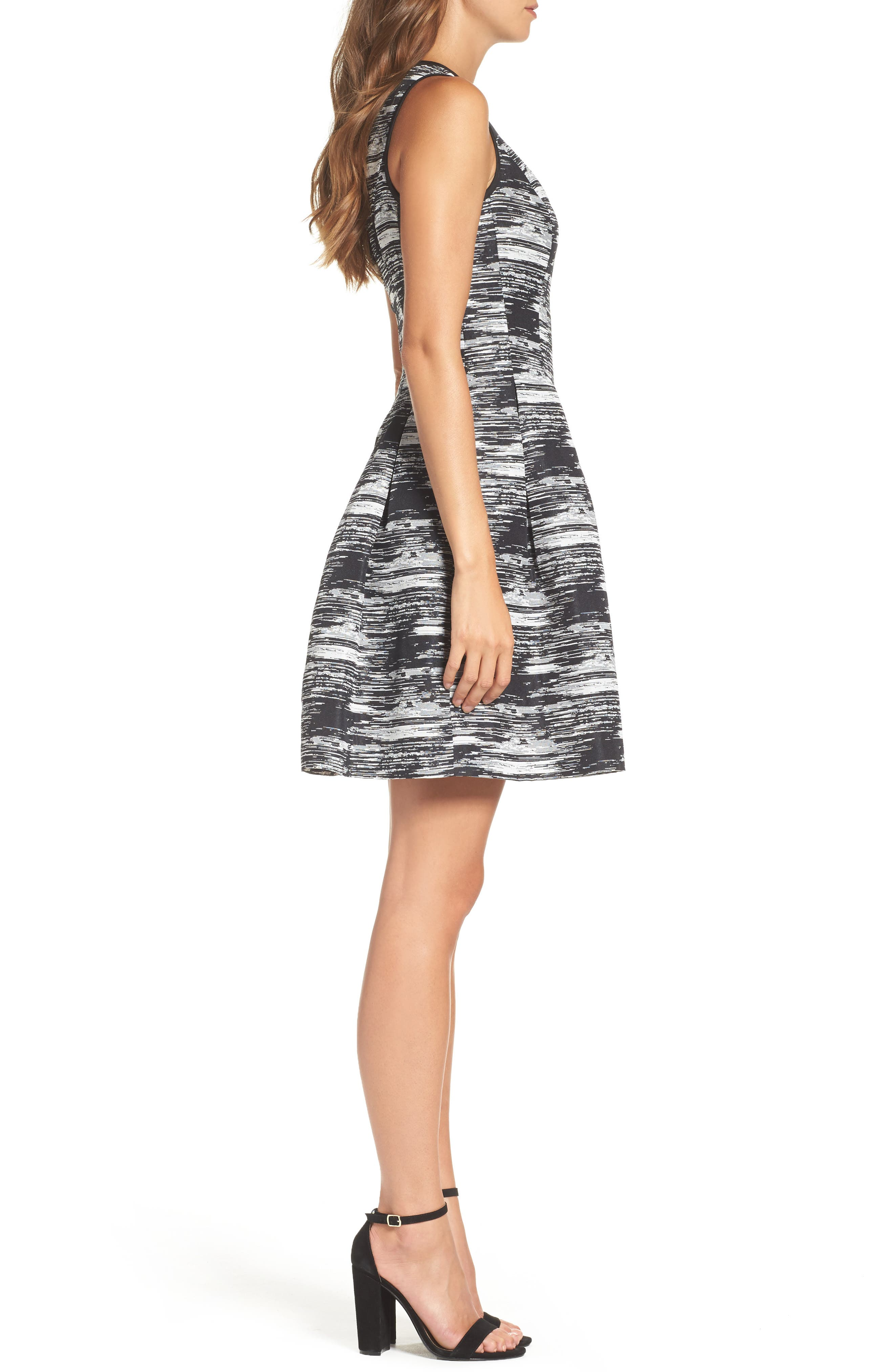 Alternate Image 3  - Vince Camuto Jacquard Fit & Flare Dress