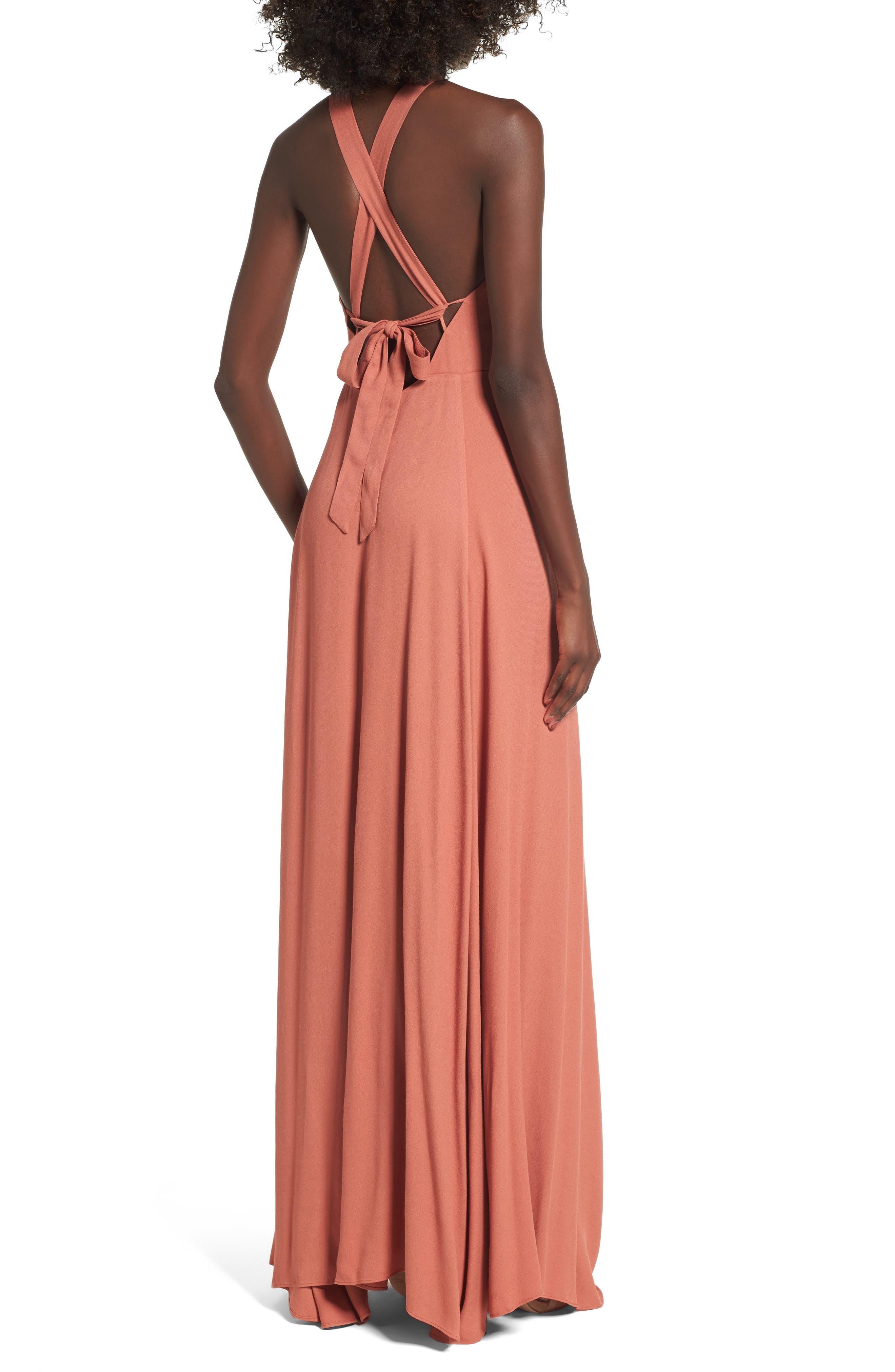 Alternate Image 2  - AFRM Harlean Halter Maxi Dress