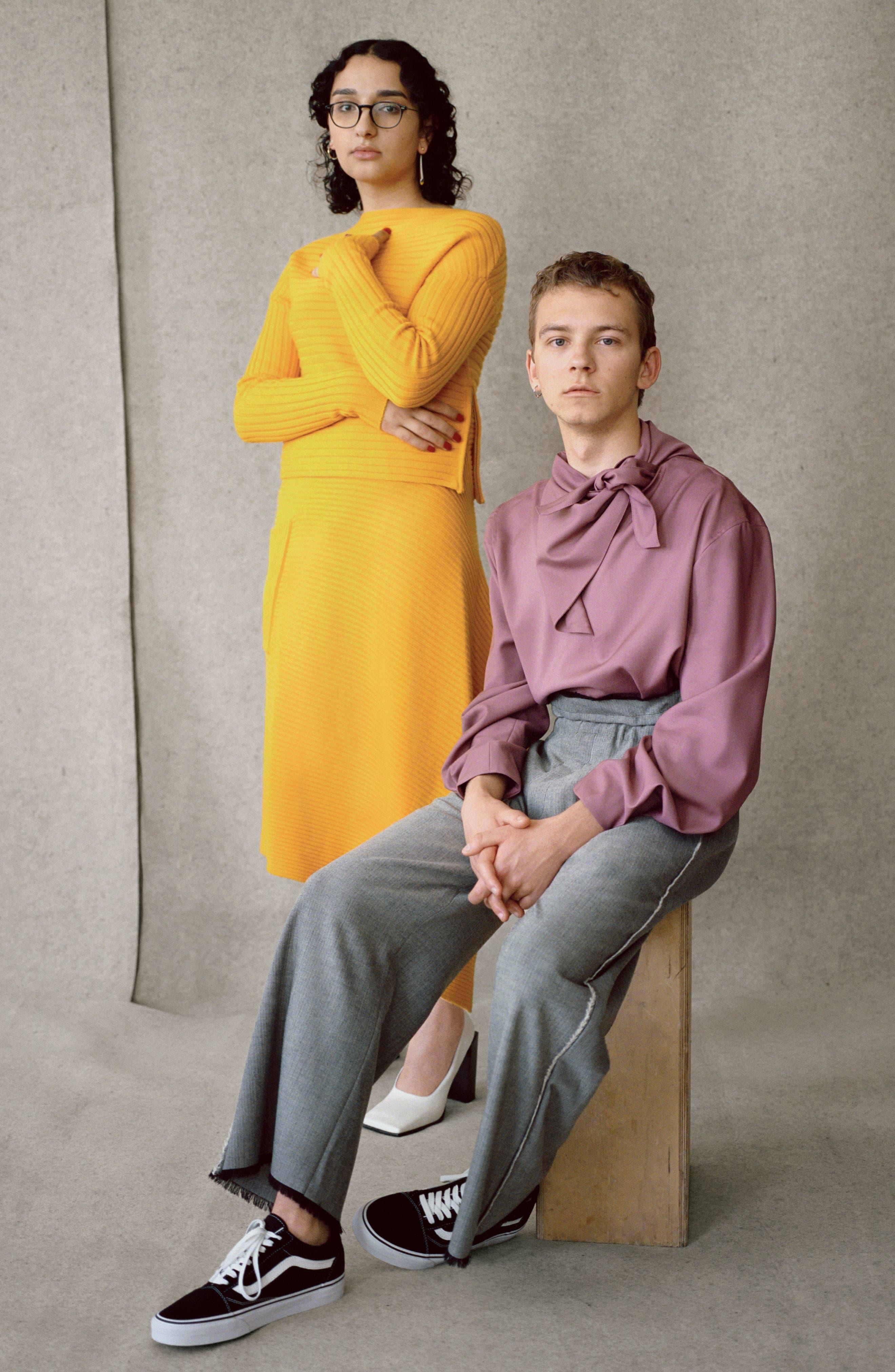 Alternate Image 2  - Tibi Asymmetrical Rib Merino Wool Skirt