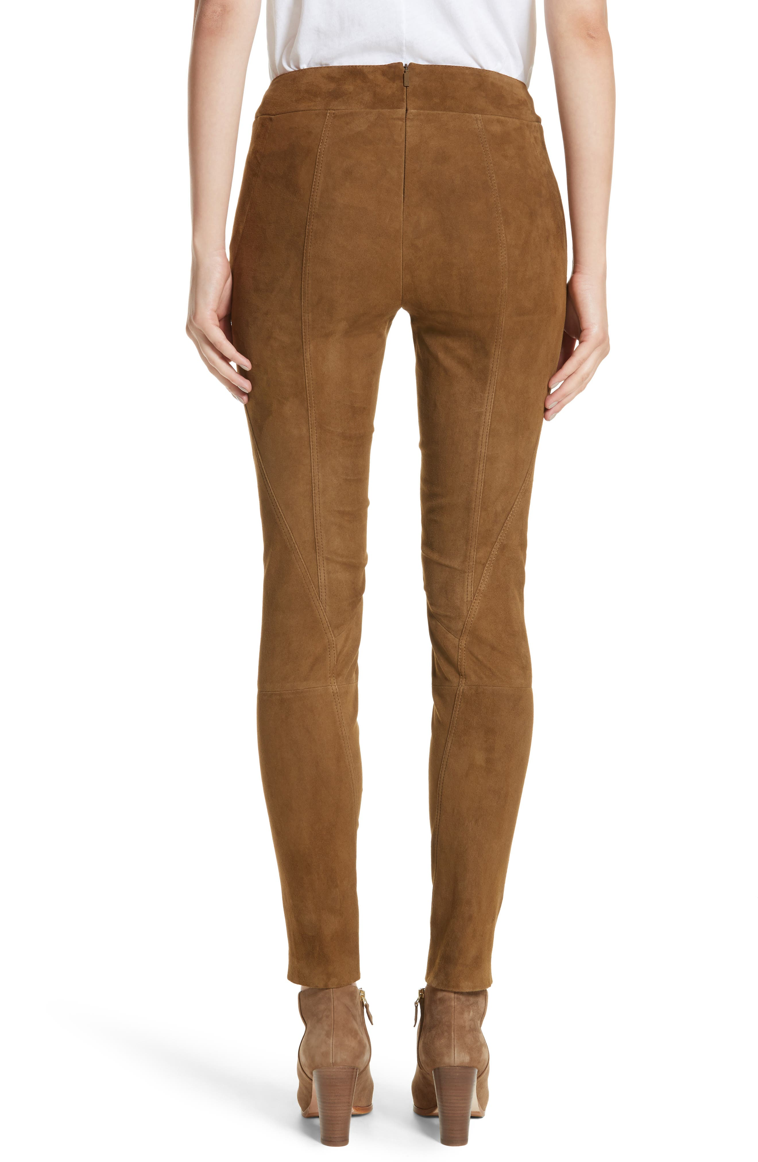 Brooklyn Suede Pants,                             Alternate thumbnail 2, color,                             Sequoia