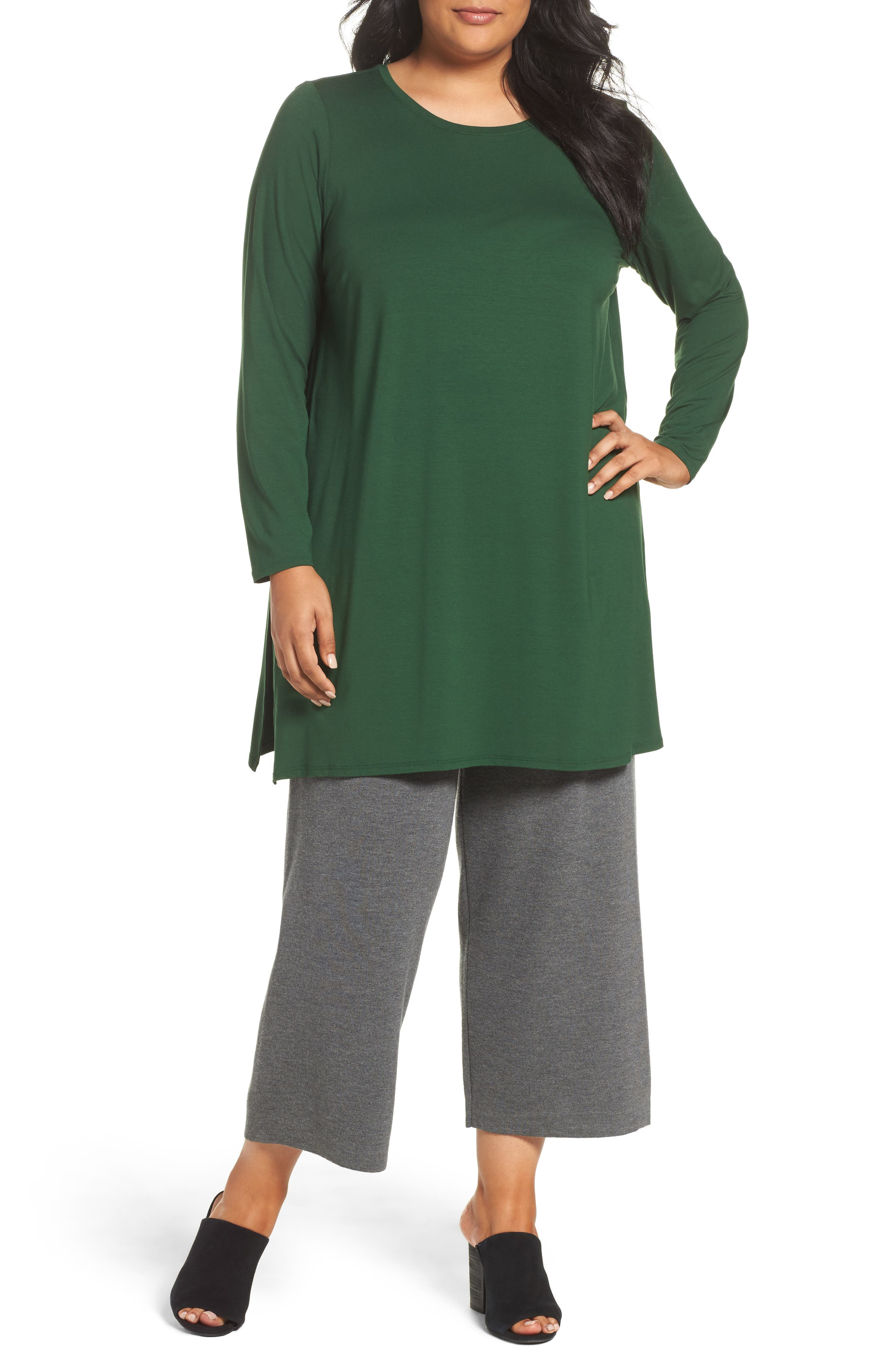 Eileen Fisher Knit Tunic (Plus Size)
