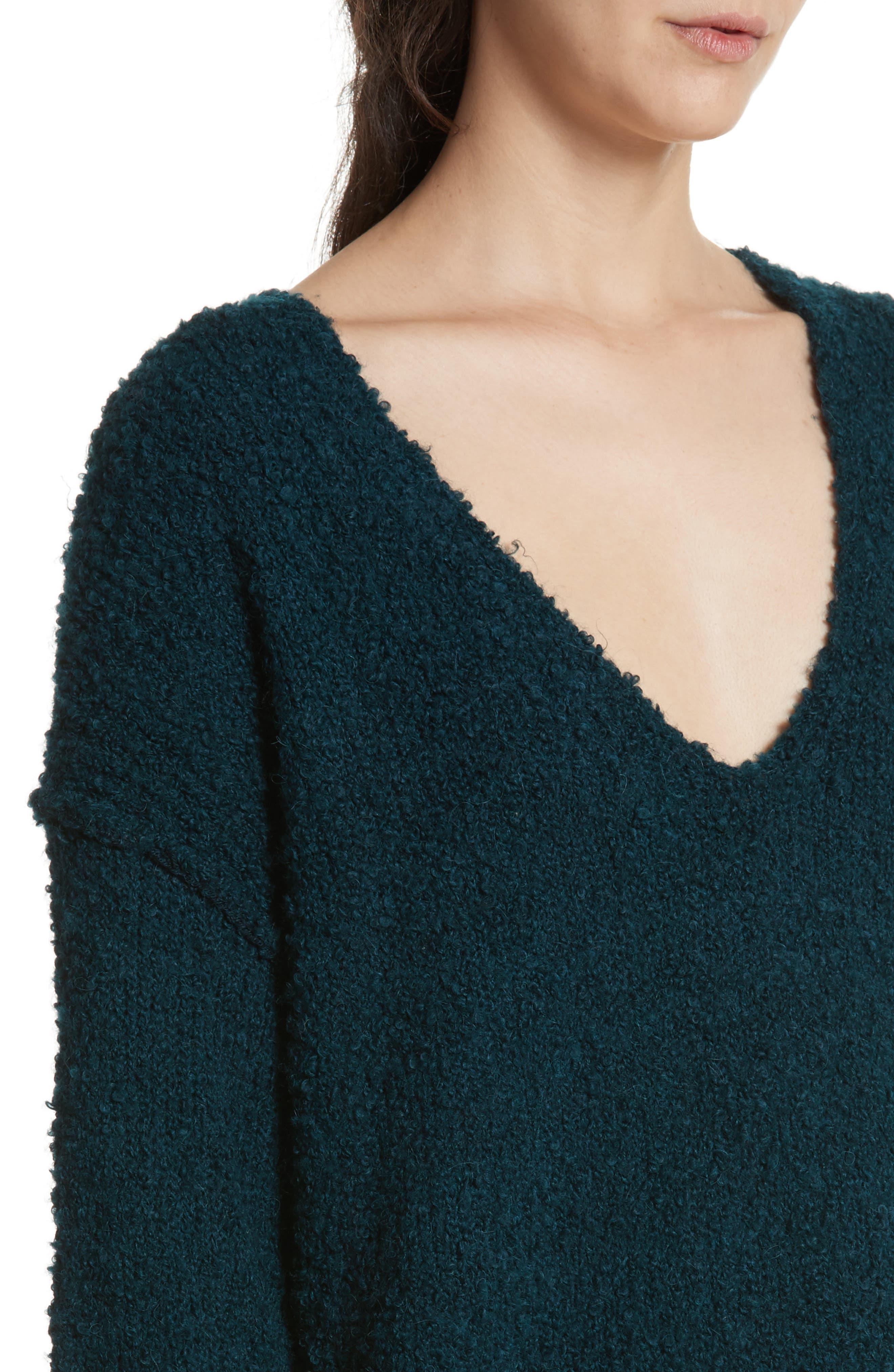 Alternate Image 4  - Free People Lofty V-Neck Sweater