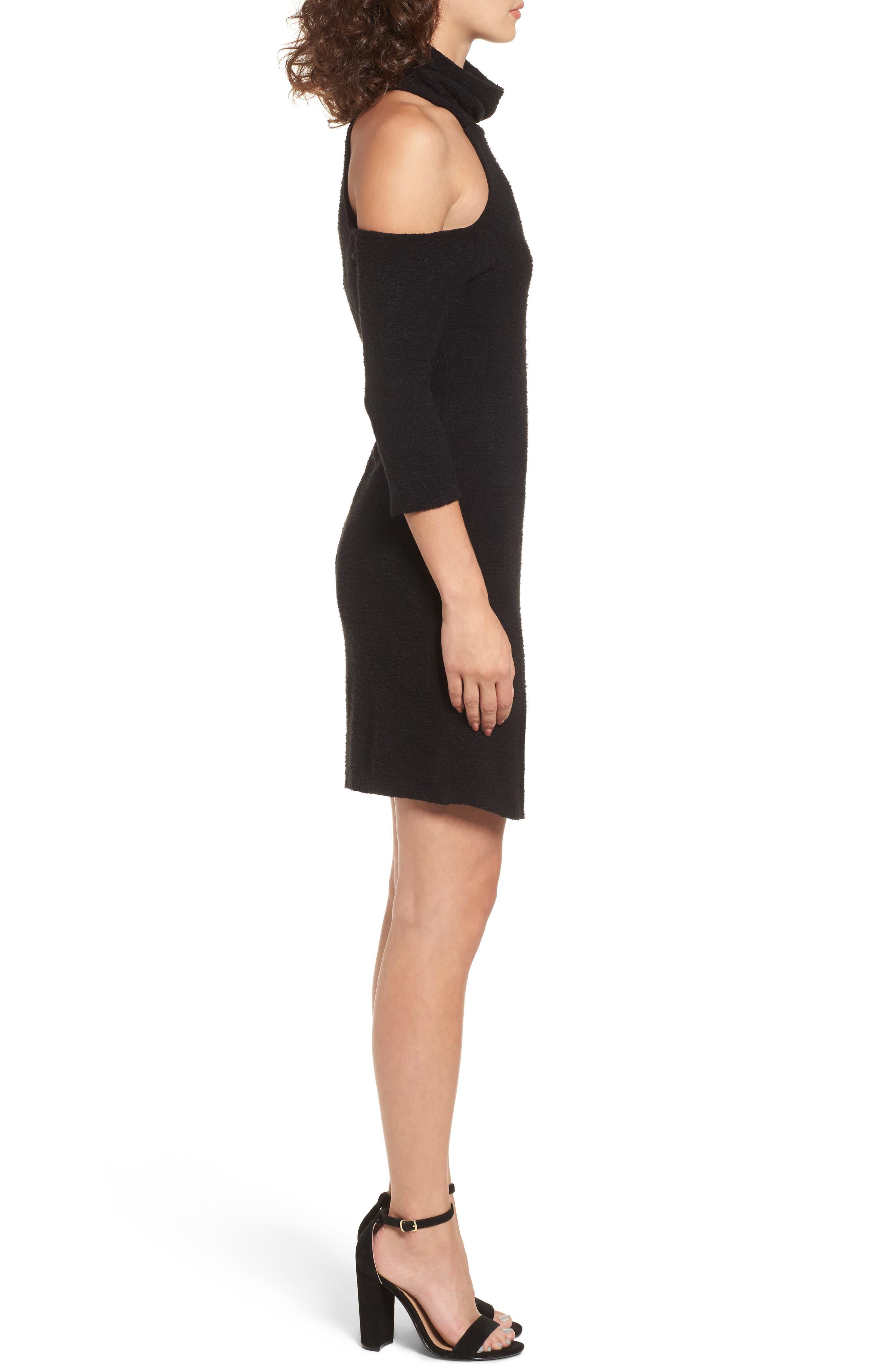 Alternate Image 3  - Everly Cold Shoulder Turtlenck Sweater Dress