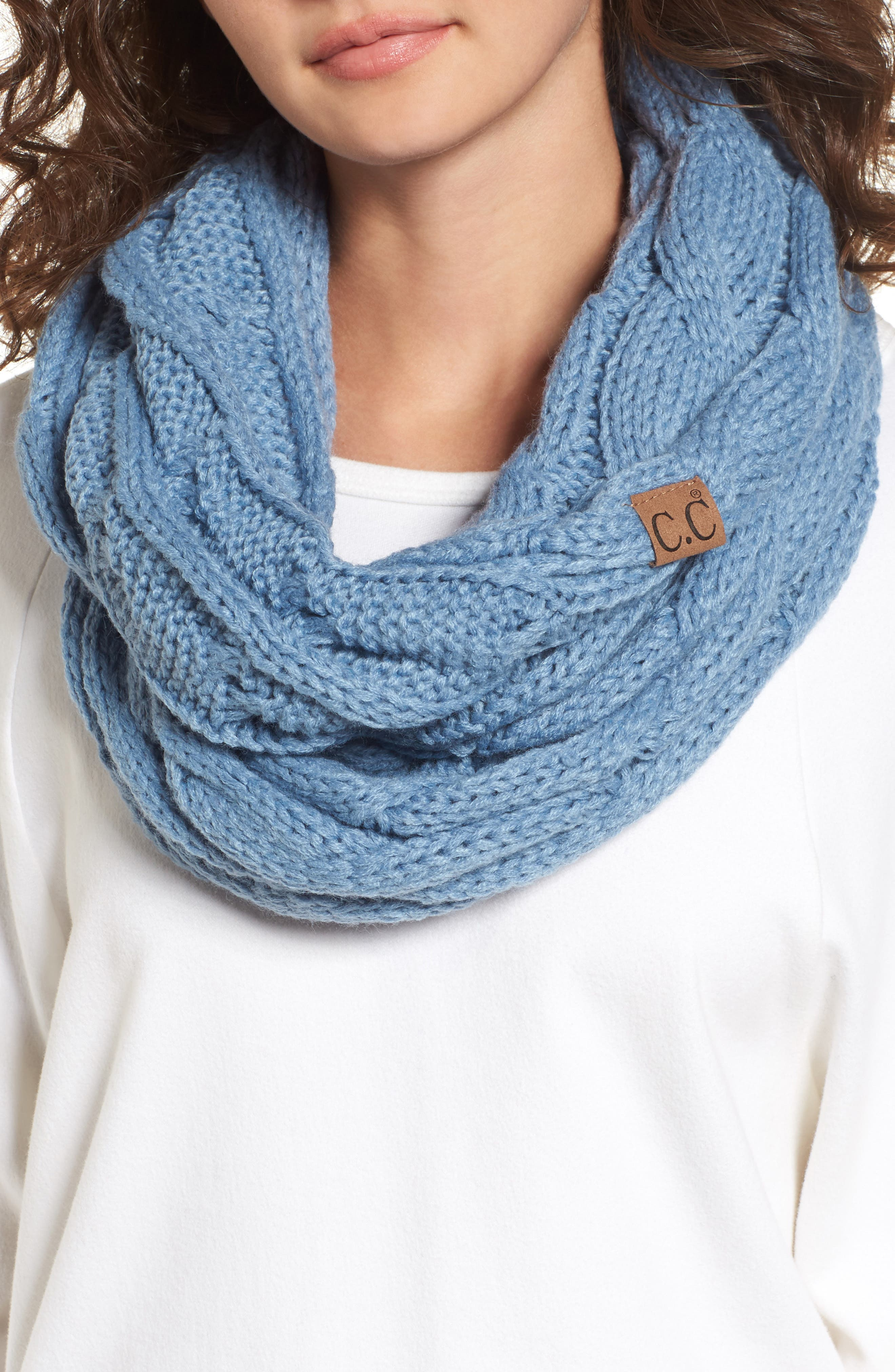 CC Cable Knit Infinity Scarf