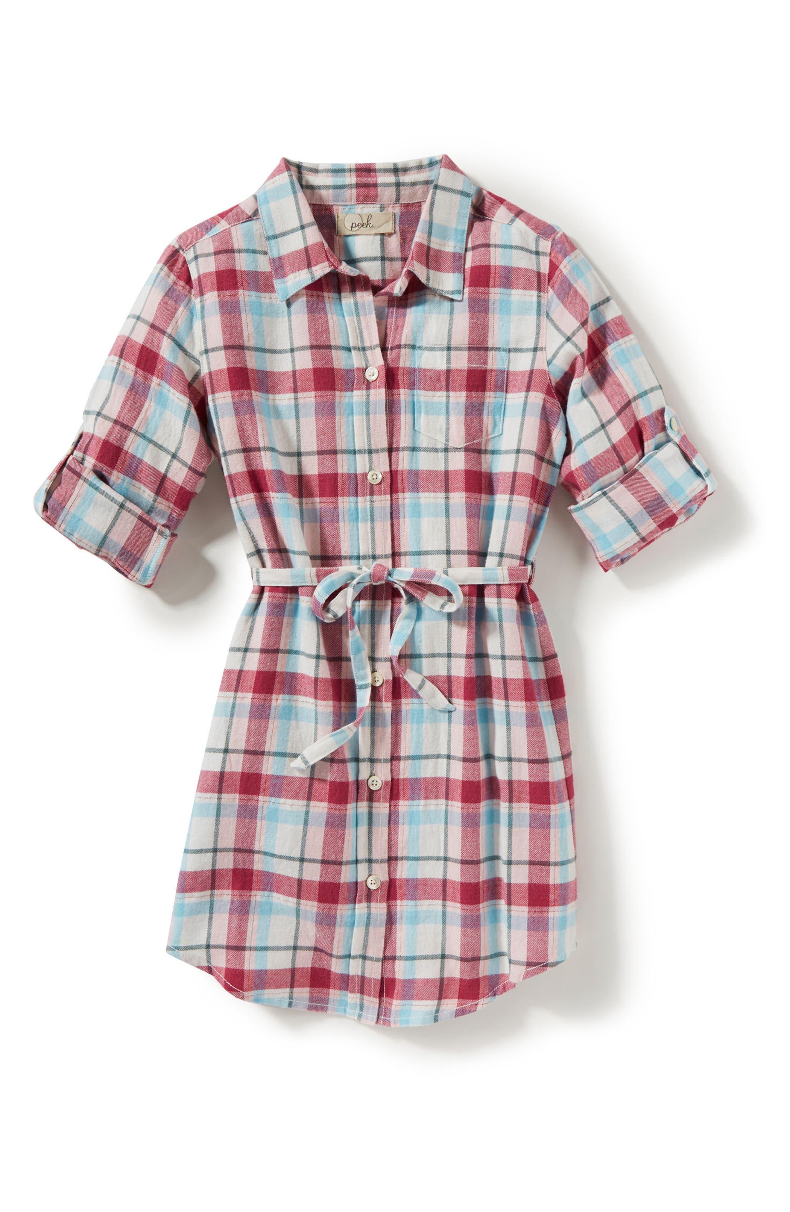 Peek Maya Plaid Shirtdress (Toddler Girls, Little Girls & Big Girls)