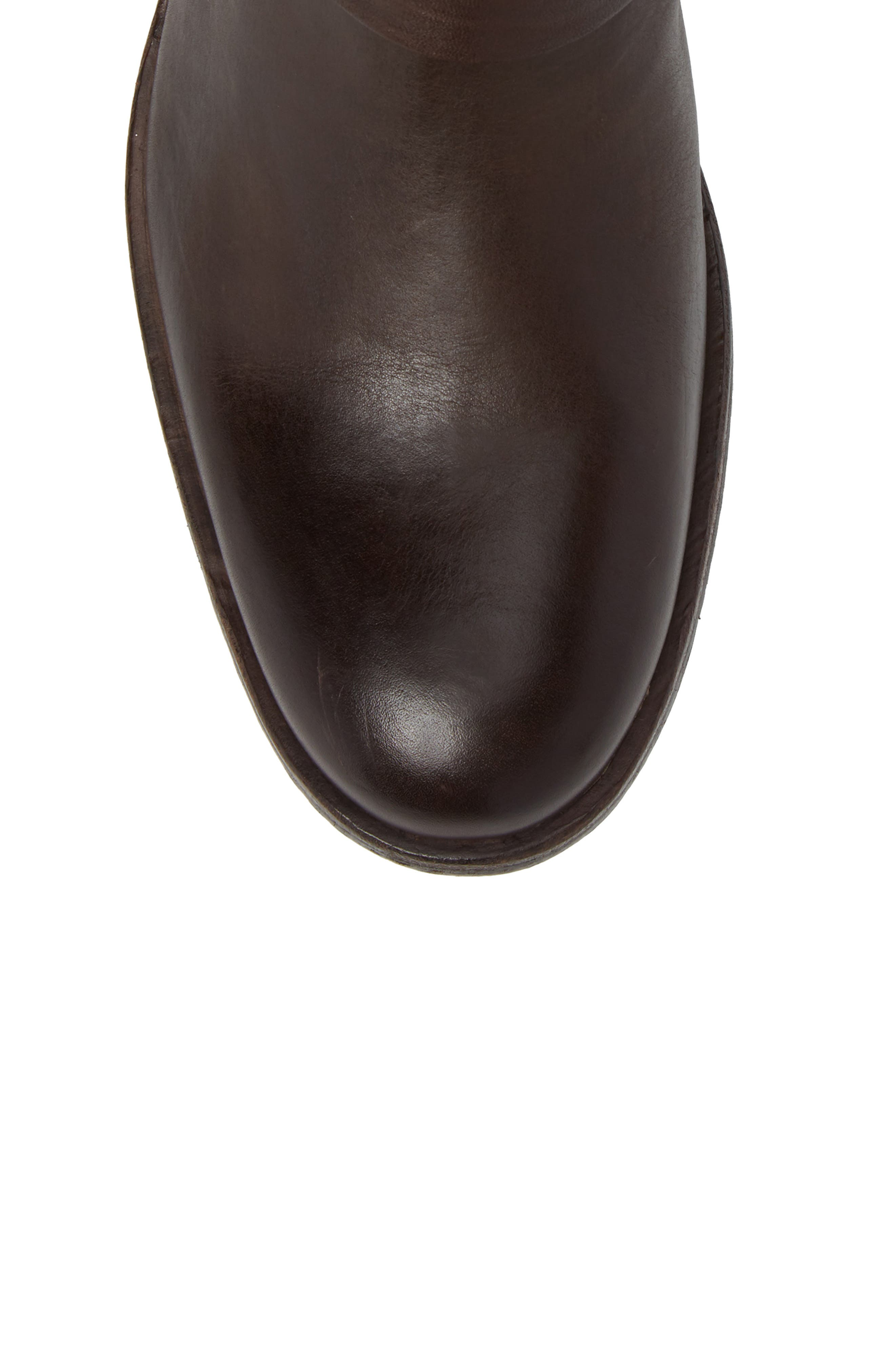 Sam Harness Boot,                             Alternate thumbnail 5, color,                             Dark Brown Leather