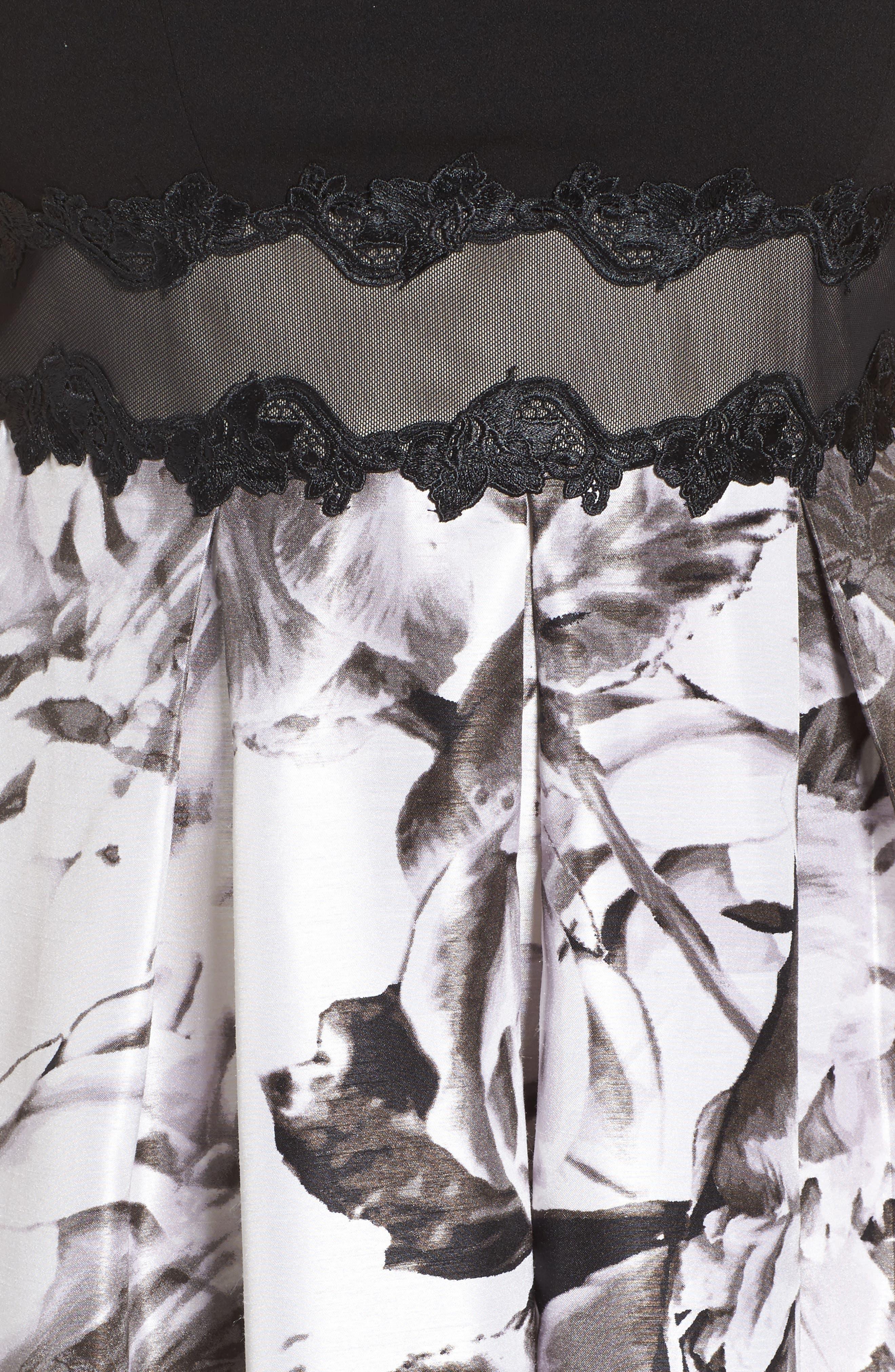 Alternate Image 5  - Sangria Floral Print Ballgown (Plus Size)