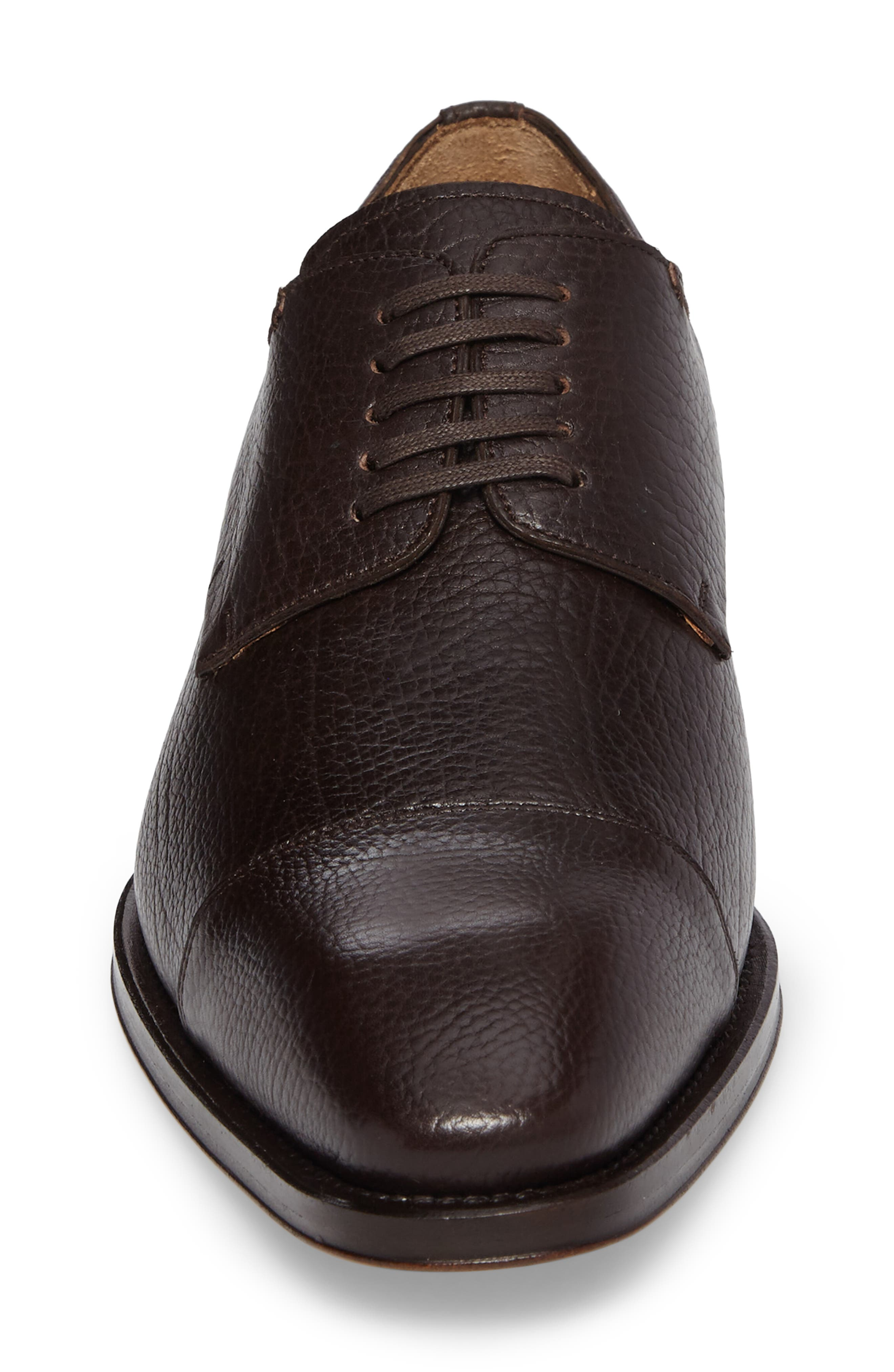 Pulpi Cap Toe Derby,                             Alternate thumbnail 4, color,                             Brown Leather
