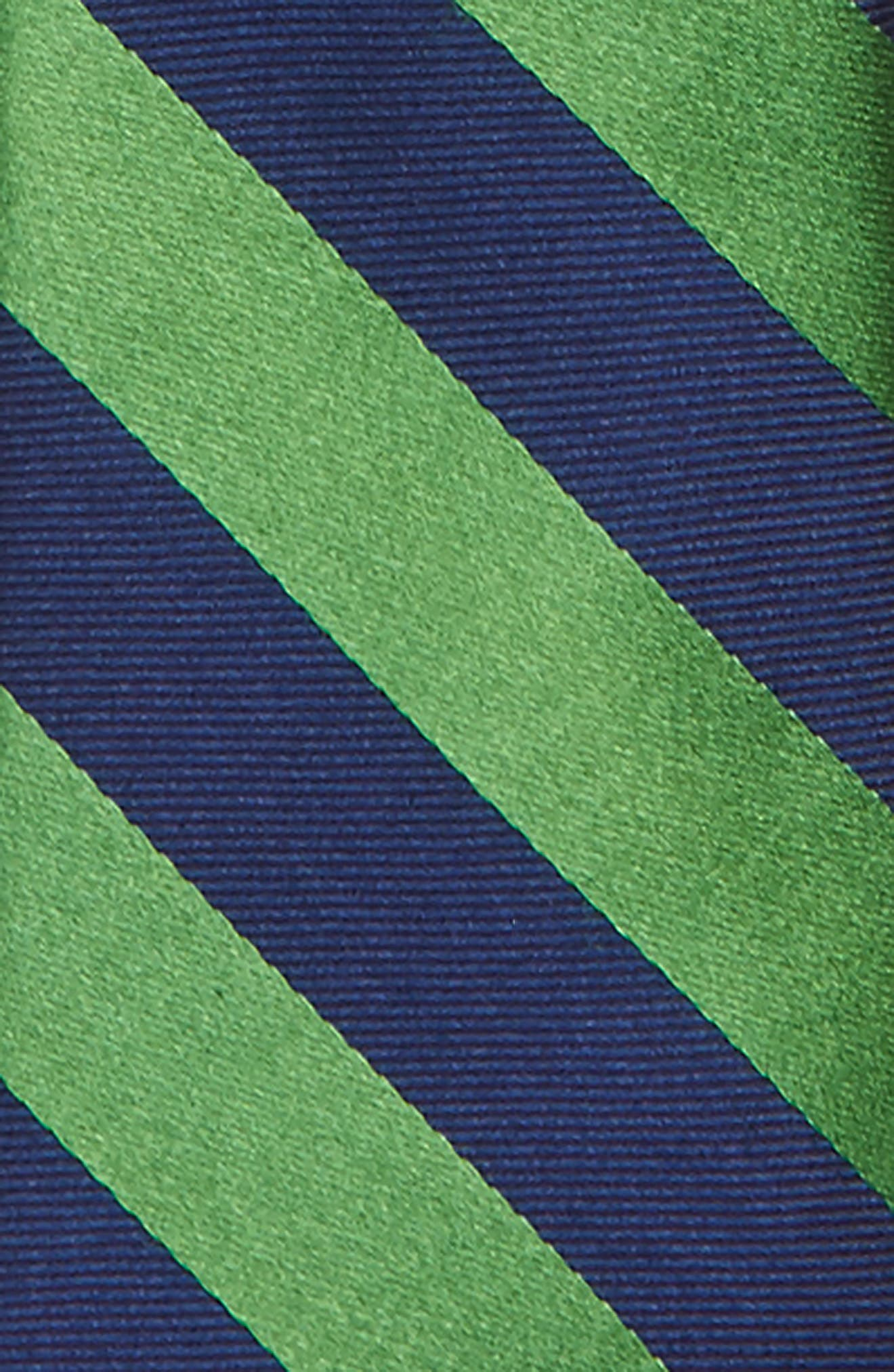Stripe Silk Zip Tie,                             Alternate thumbnail 2, color,                             Green