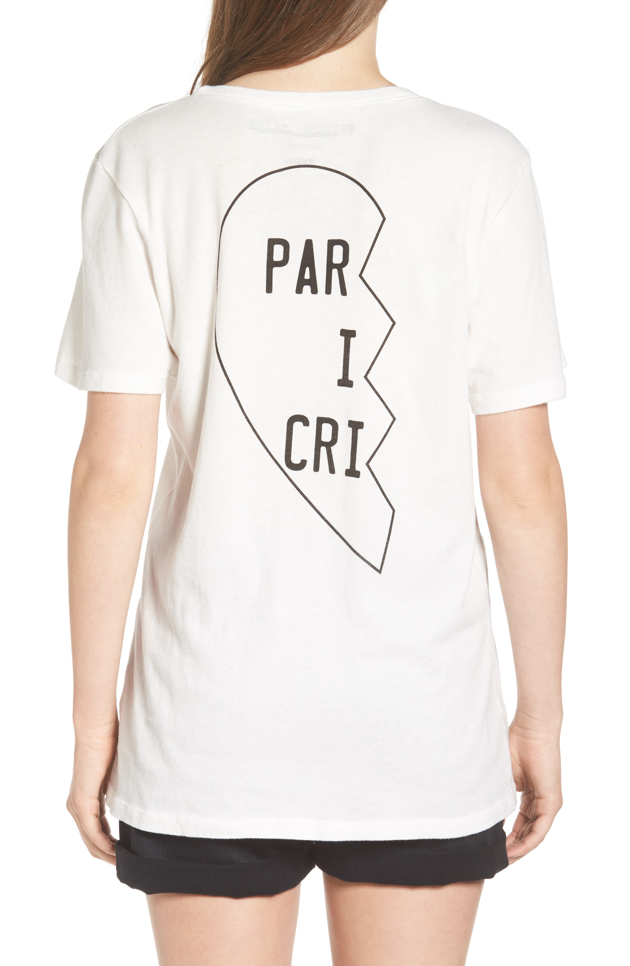 PRINCE PETER Distressed Tee in White
