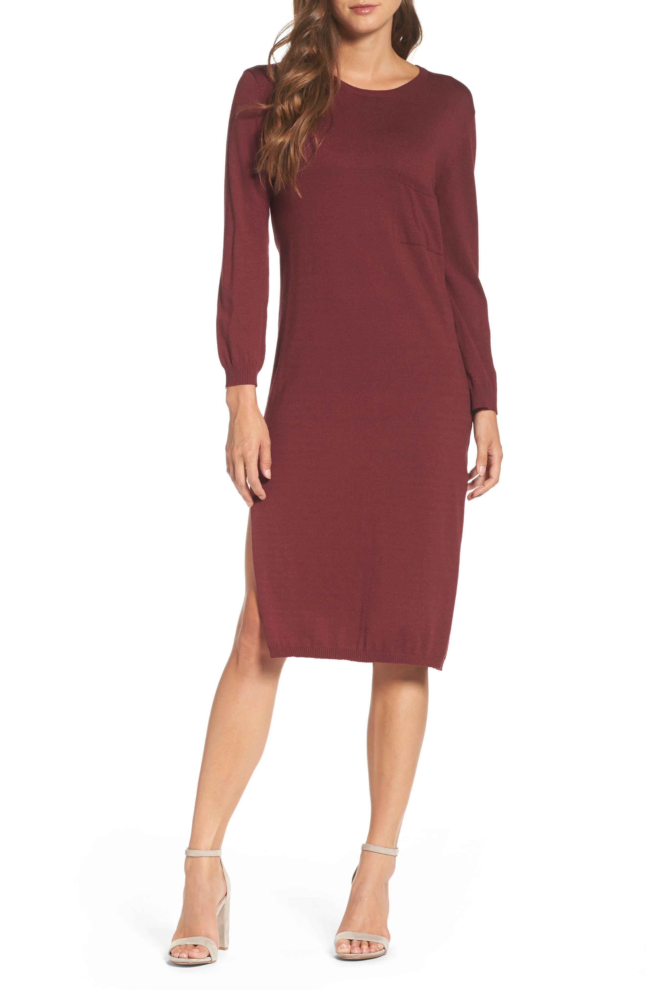 Darrien Shift Dress,                         Main,                         color, Wine