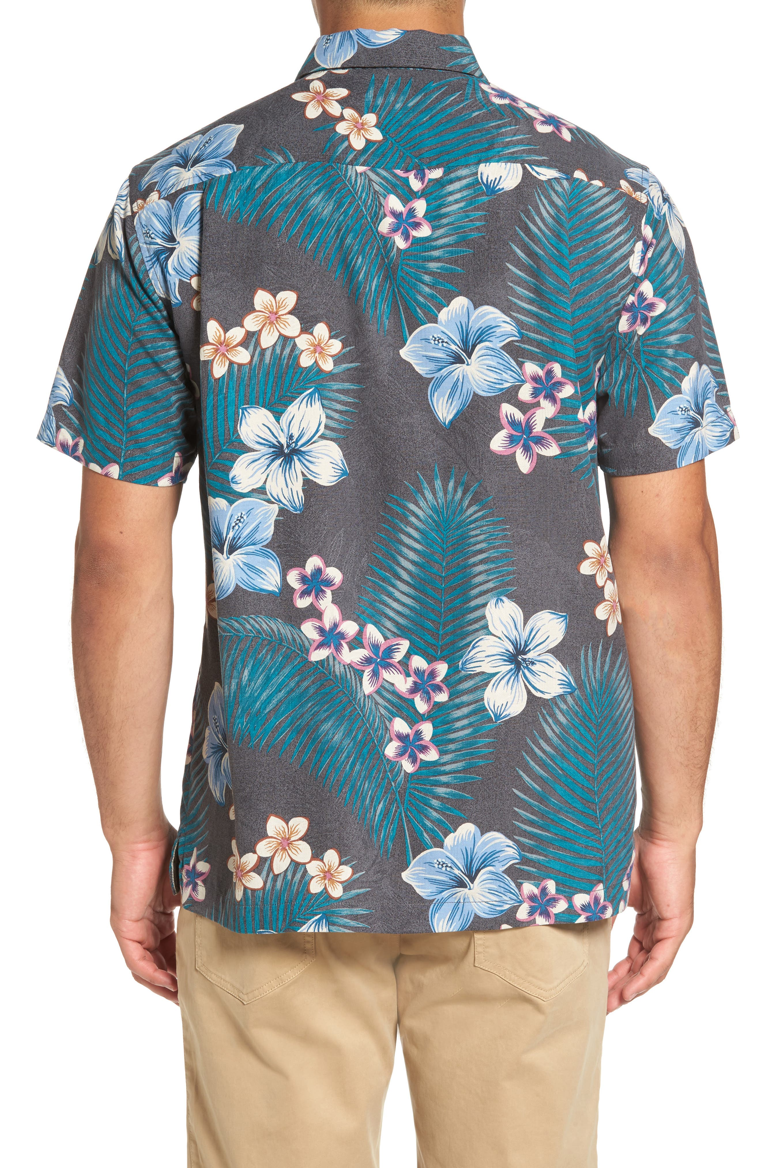 Alternate Image 2  - Tommy Bahama Marjorelle Blooms Standard Fit Camp Shirt
