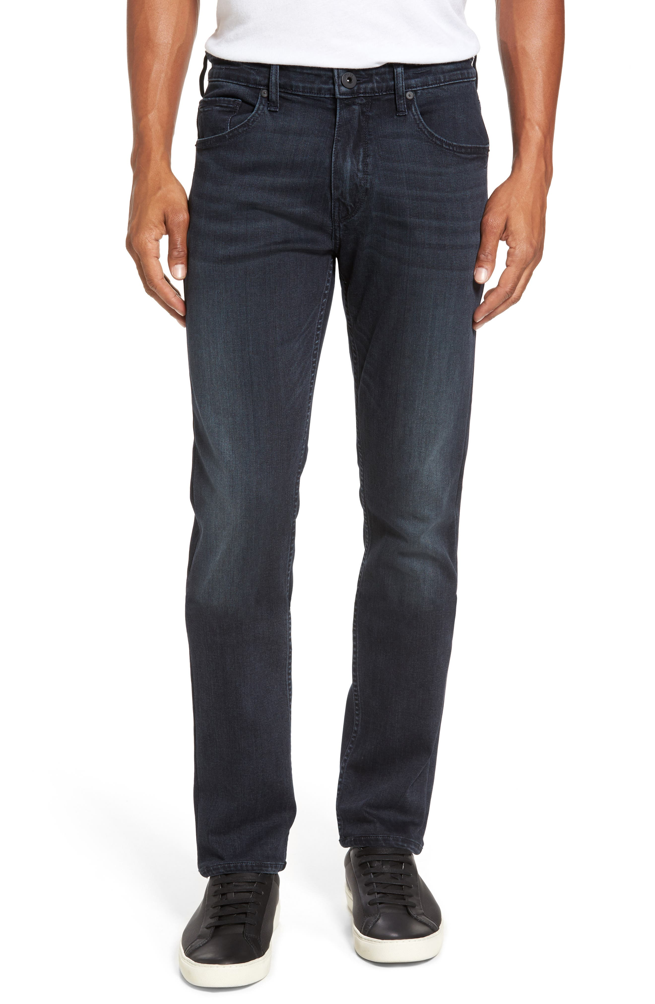 Main Image - BOSS Straight Leg Jeans (Dark Grey)