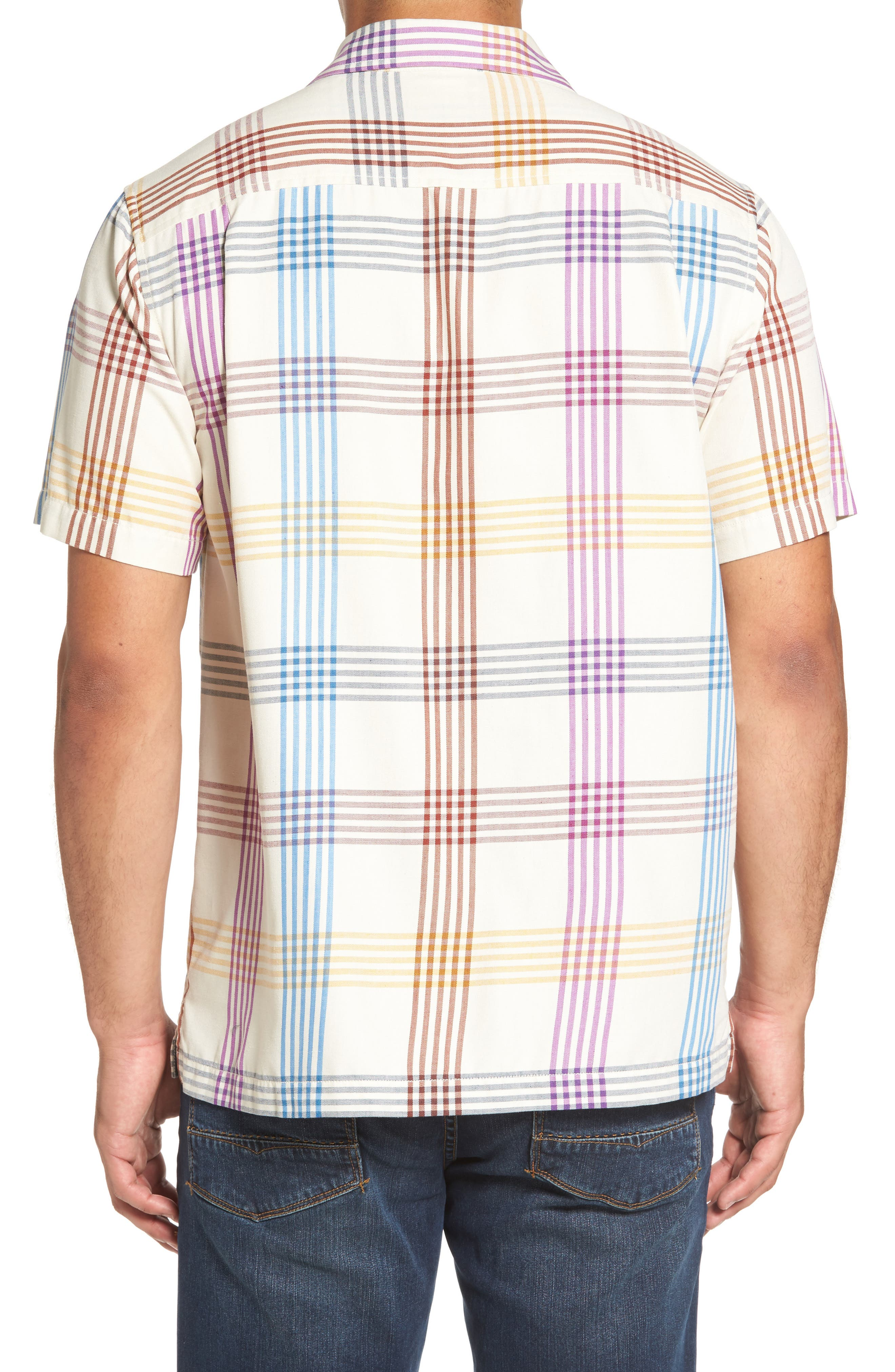 Alternate Image 2  - Tommy Bahama Mo' Rockin Standard Fit Silk Woven Shirt