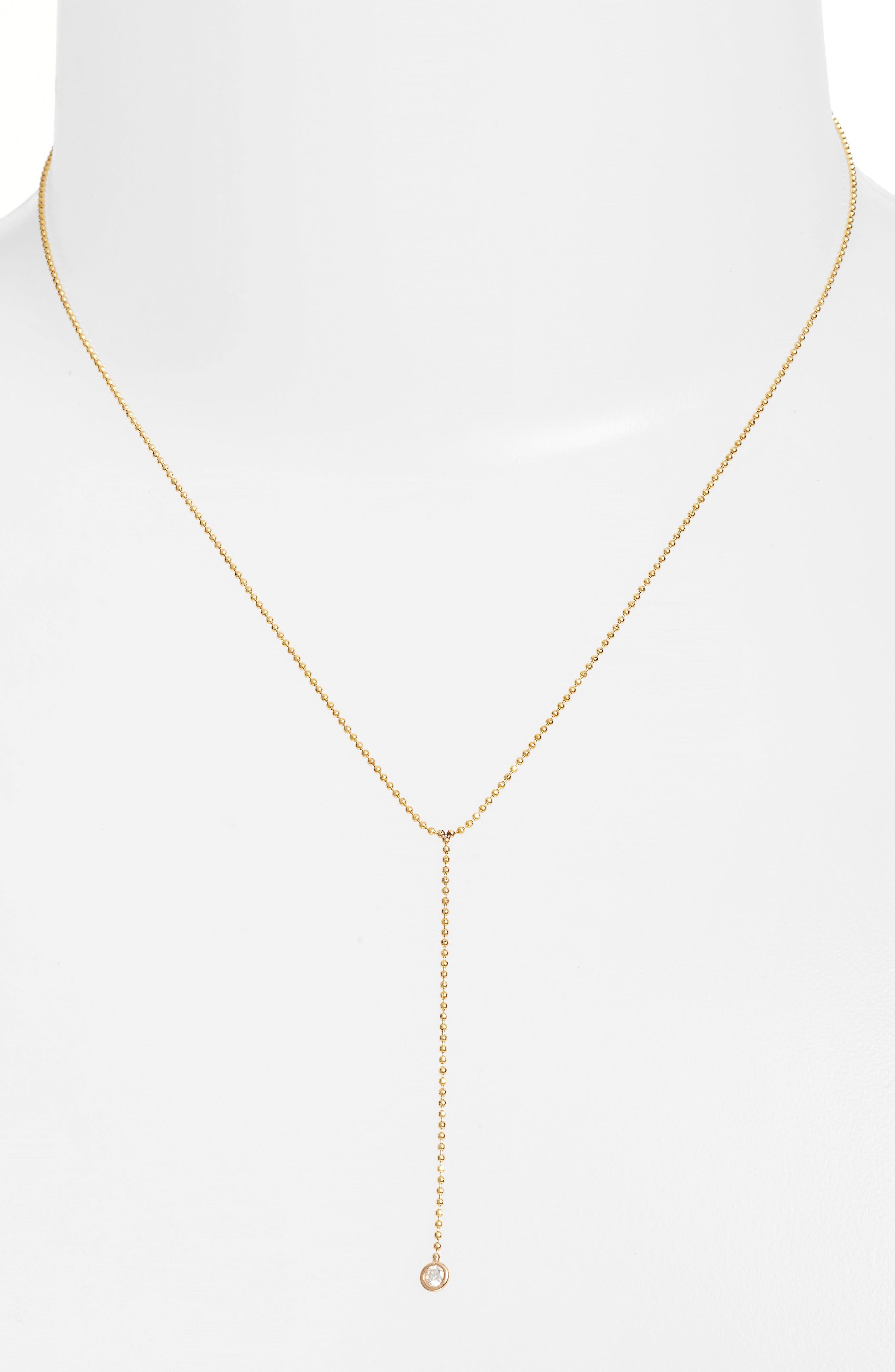 Zoë Chicco Diamond Y-Necklace