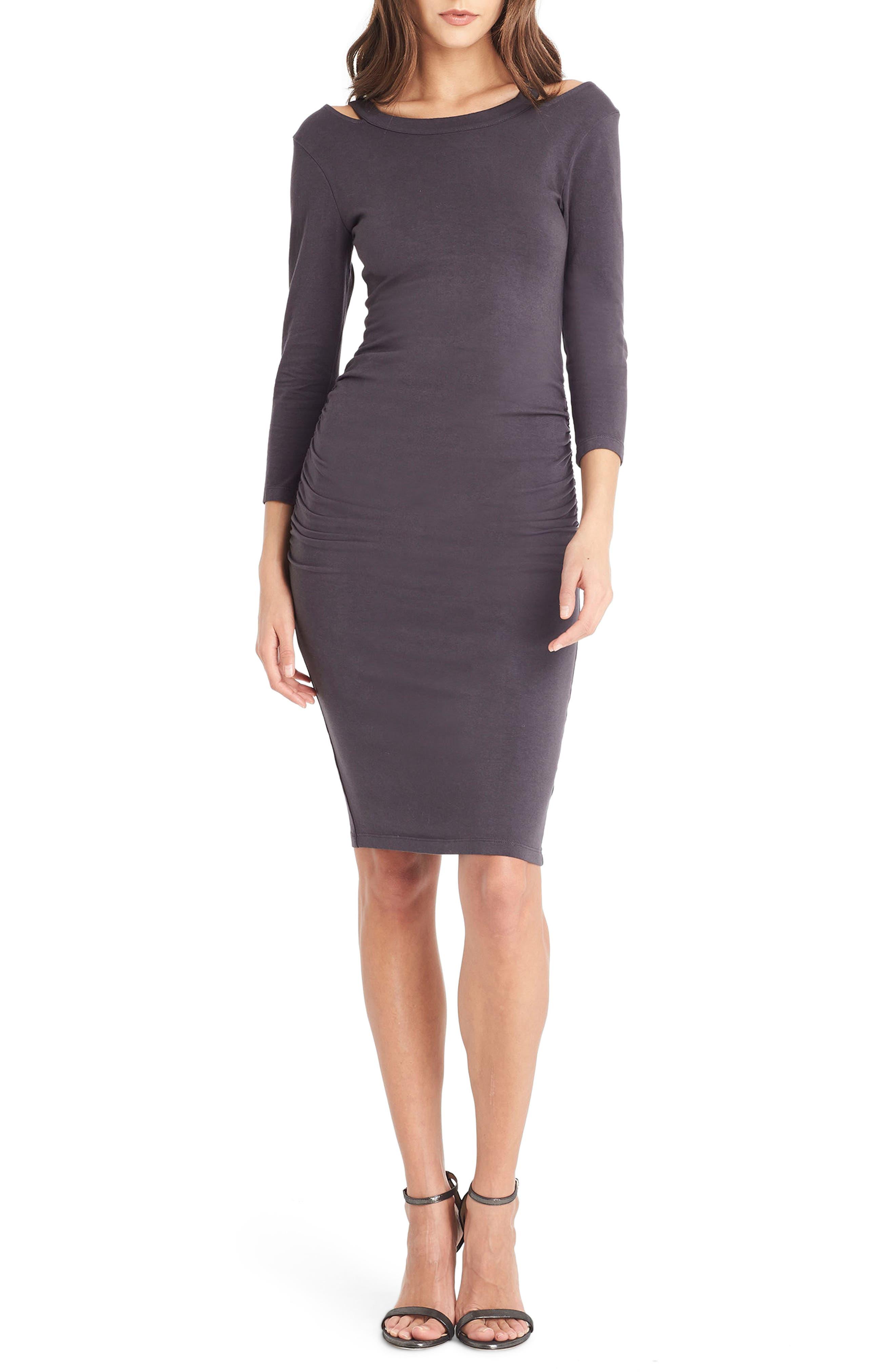 Strap Back Body-Con Dress,                         Main,                         color, Oxide