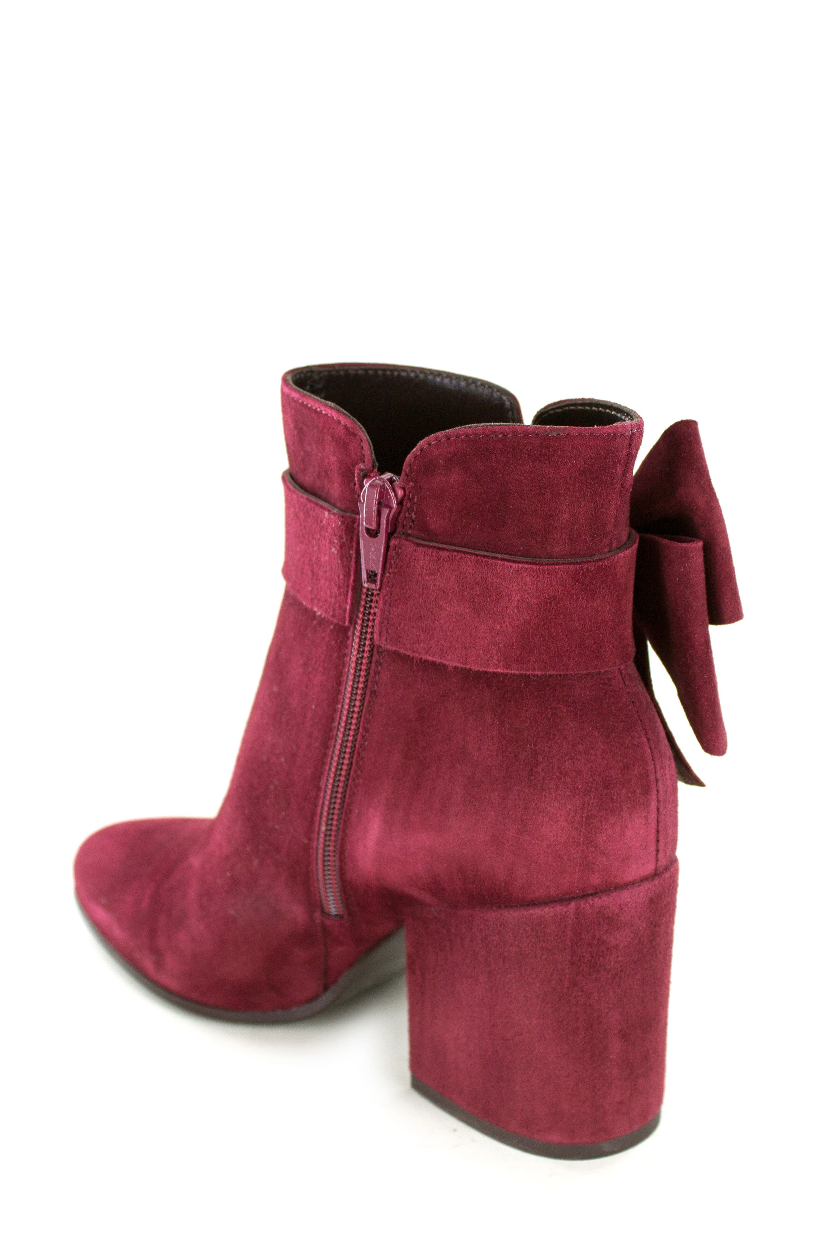 Stevie Bootie,                             Alternate thumbnail 2, color,                             Burgundy Suede