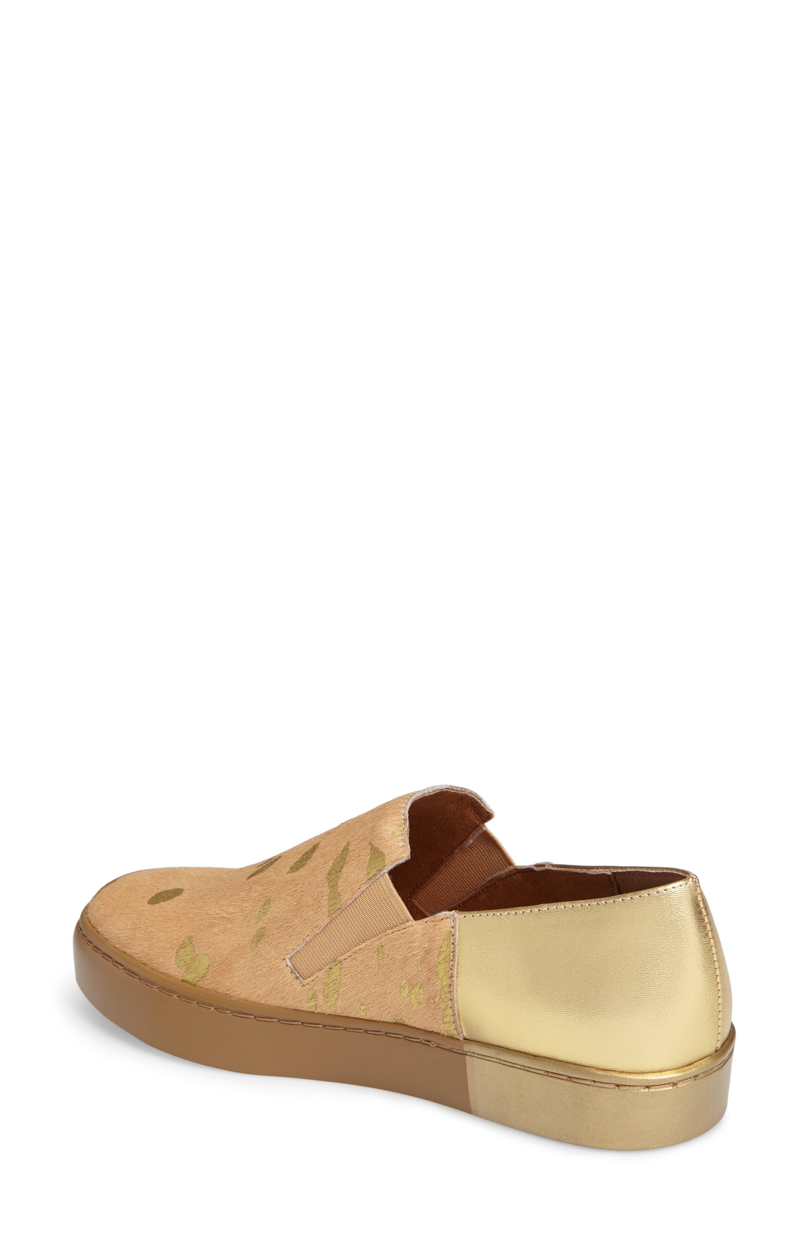Varsity Slip-On Sneaker,                             Alternate thumbnail 2, color,                             Taupe