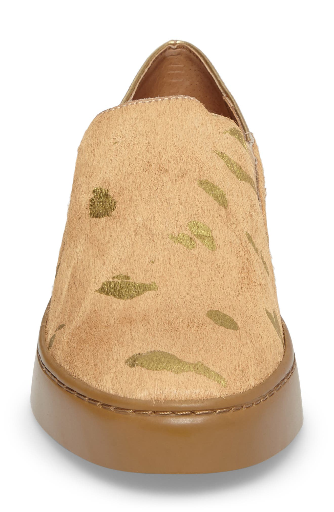 Varsity Slip-On Sneaker,                             Alternate thumbnail 4, color,                             Taupe