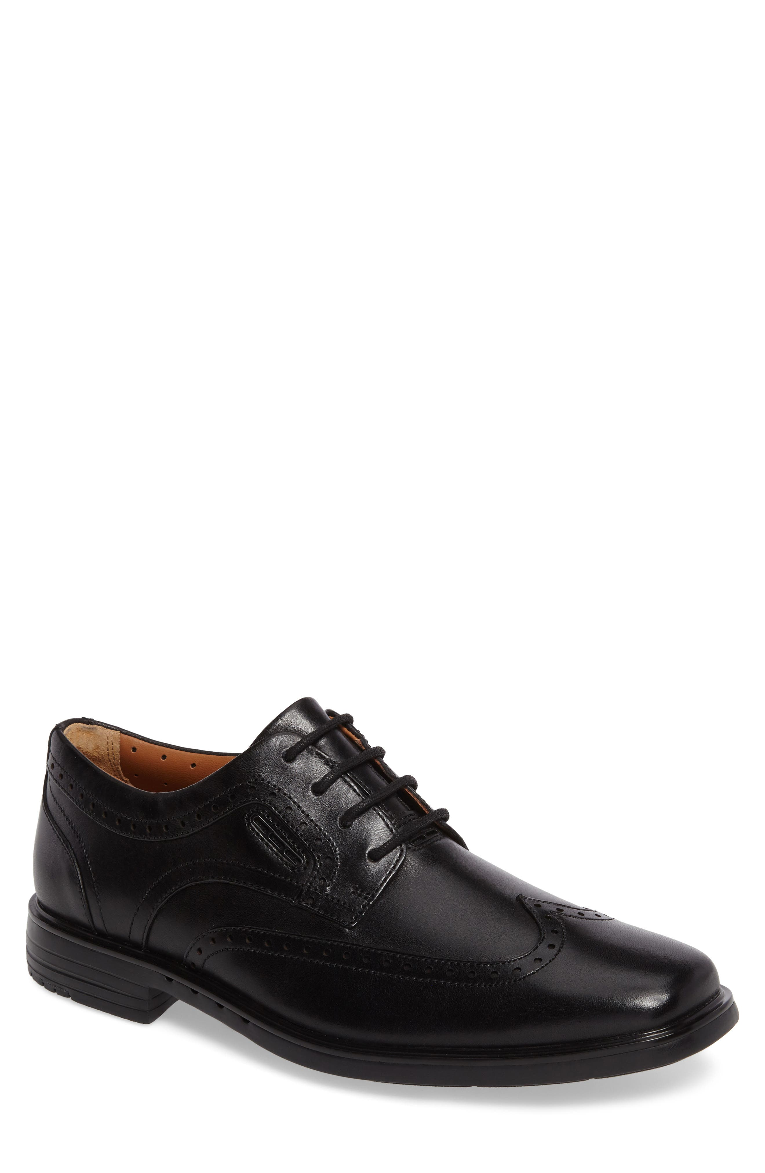 Unbrylan Wingtip Oxford,                             Main thumbnail 1, color,                             Black Leather