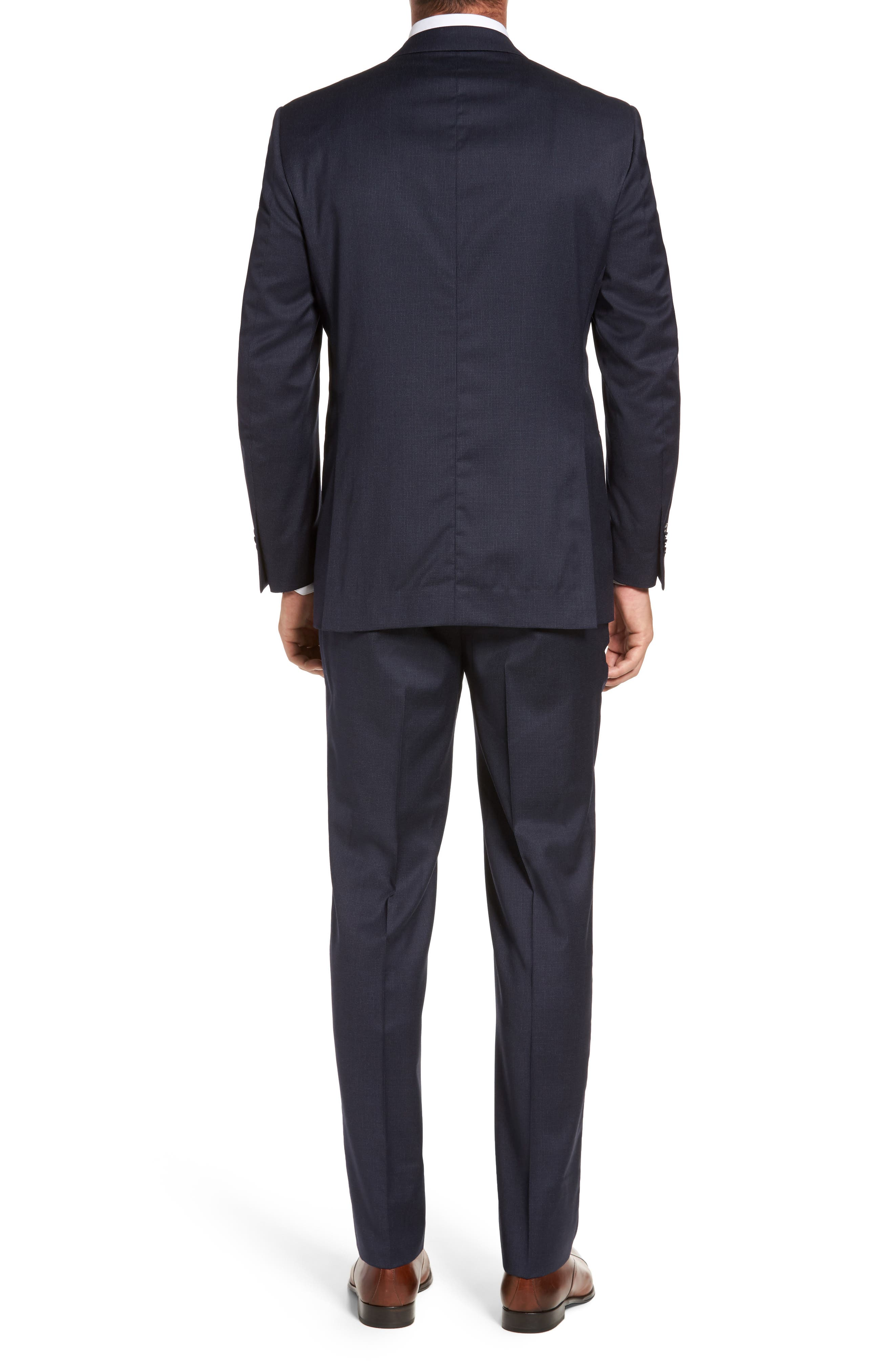 Flynn Classic Fit Check Wool Suit,                             Alternate thumbnail 2, color,                             Navy