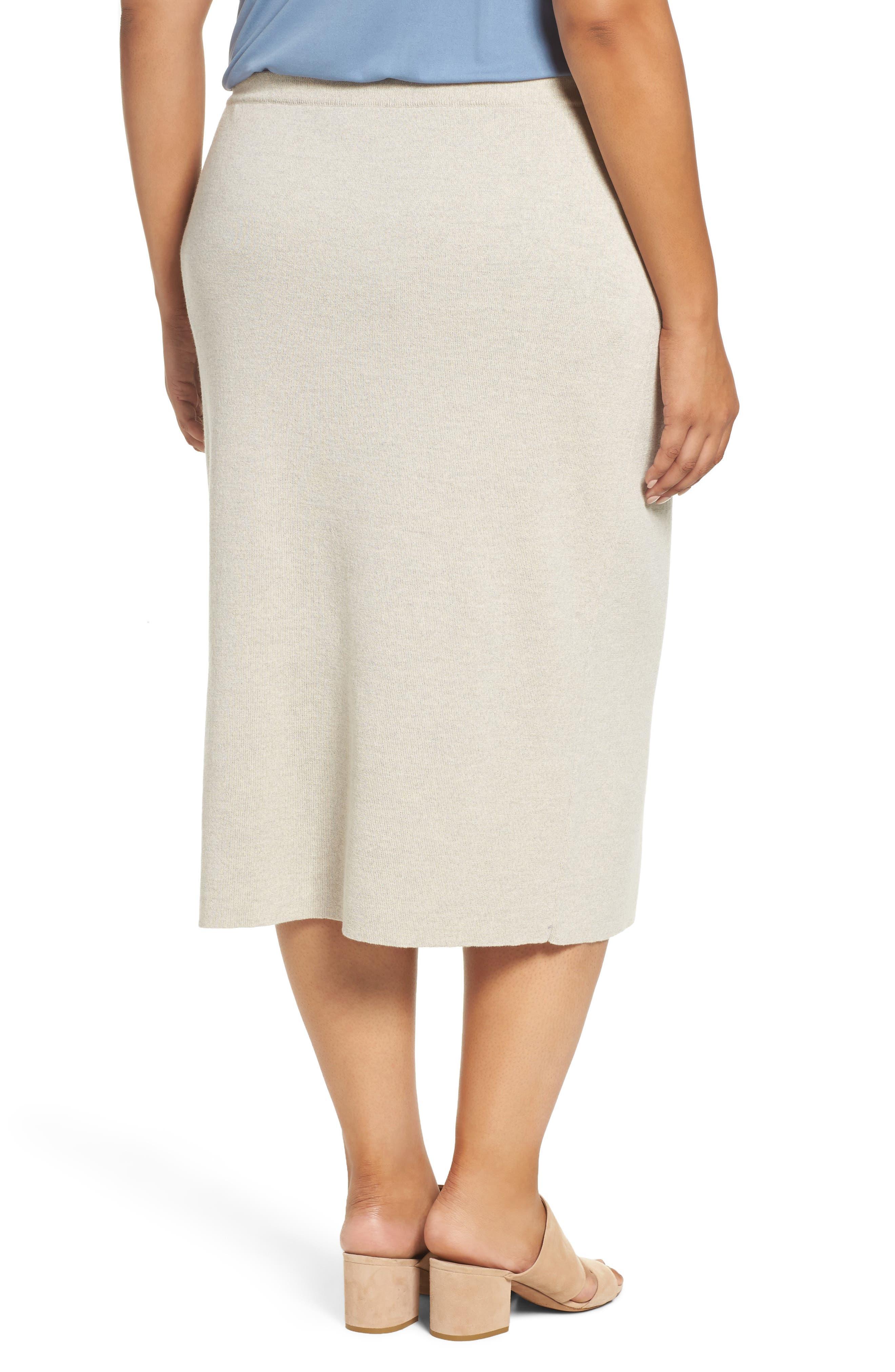 Alternate Image 2  - Eileen Fisher Wool Knit Pencil Skirt (Plus Size)