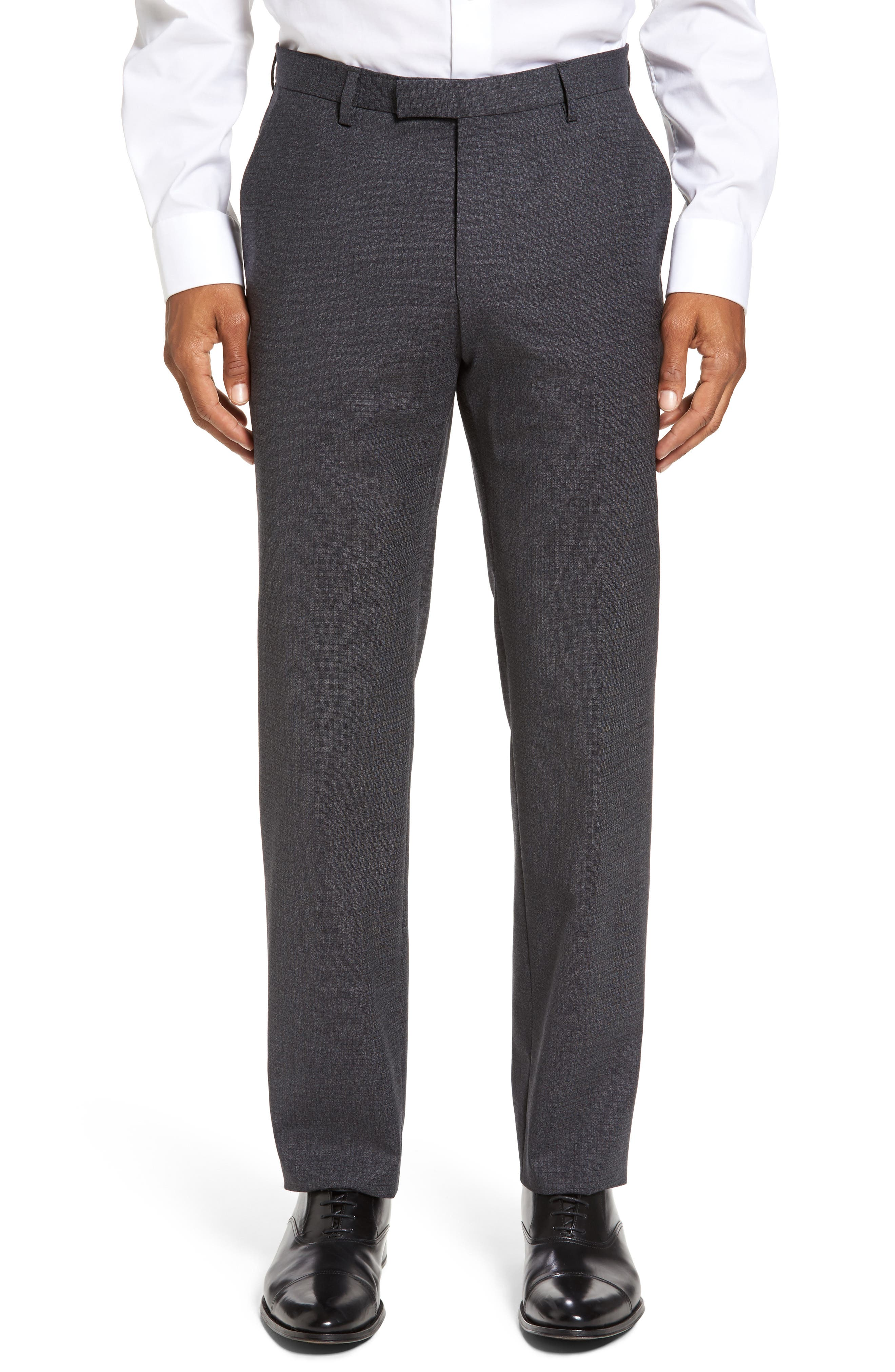 BOSS Leenon Classic Fit Stretch Wool Trousers