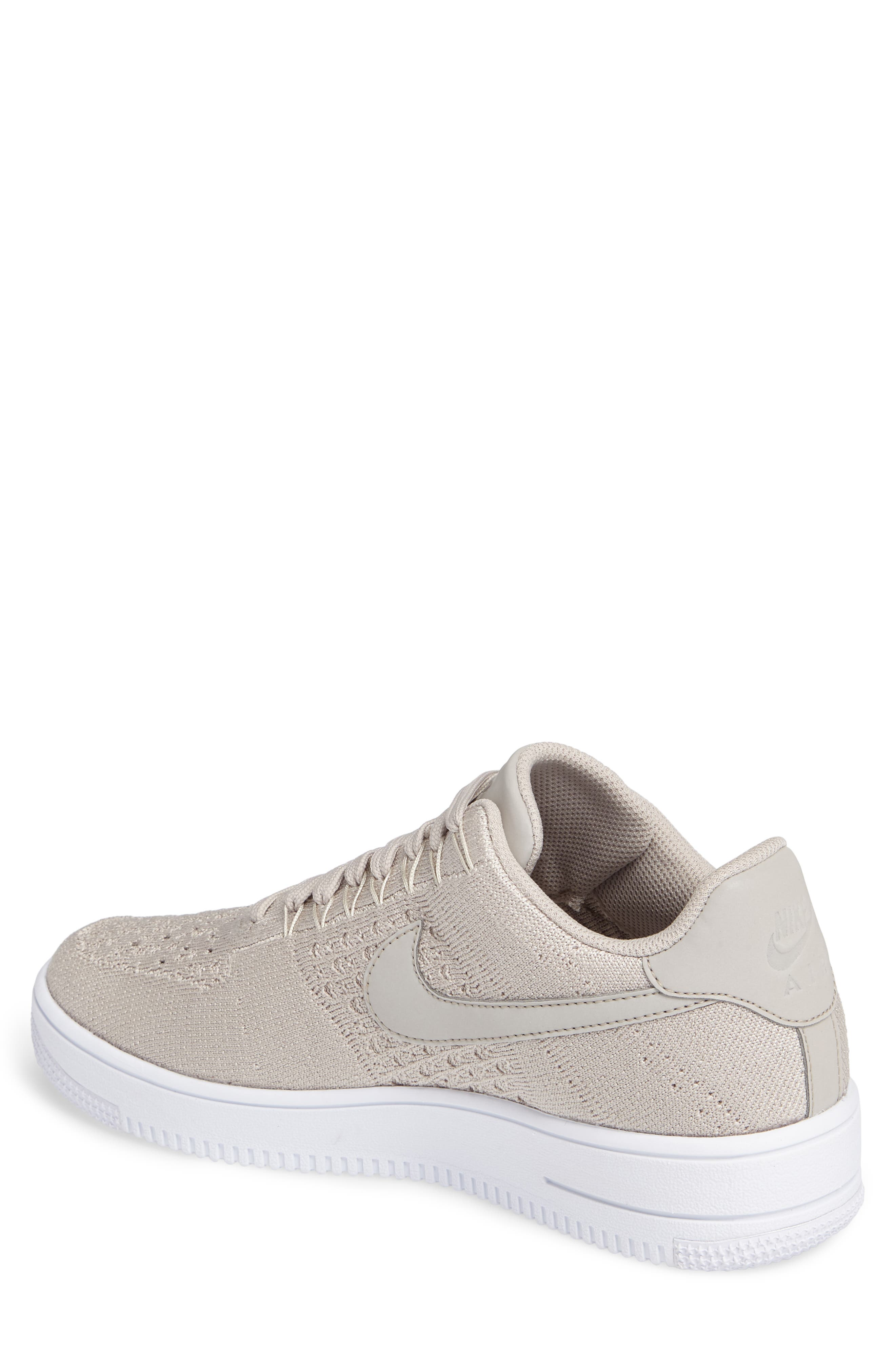 Air Force 1 Ultra Flyknit Low Sneaker,                             Alternate thumbnail 2, color,                             String/ String/ White
