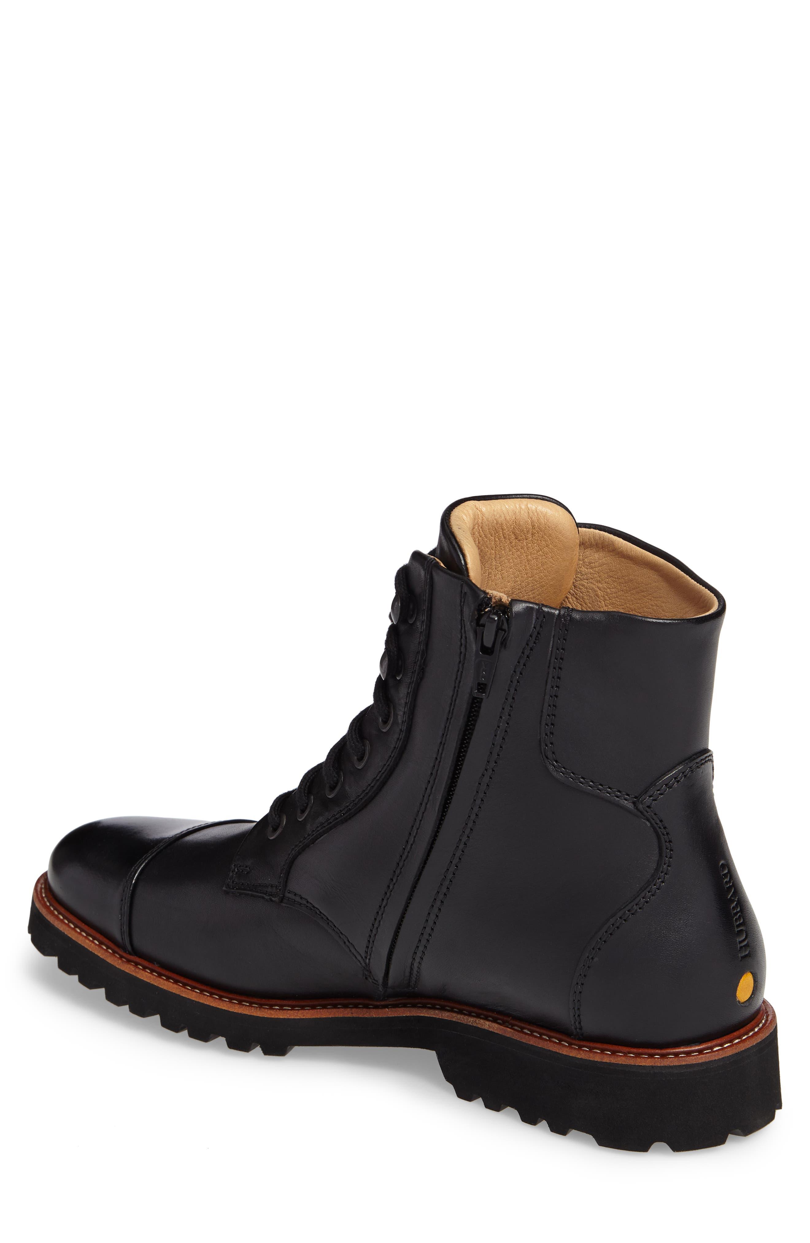 Uptown Maverick Cap Toe Boot,                             Alternate thumbnail 2, color,                             Black Leather