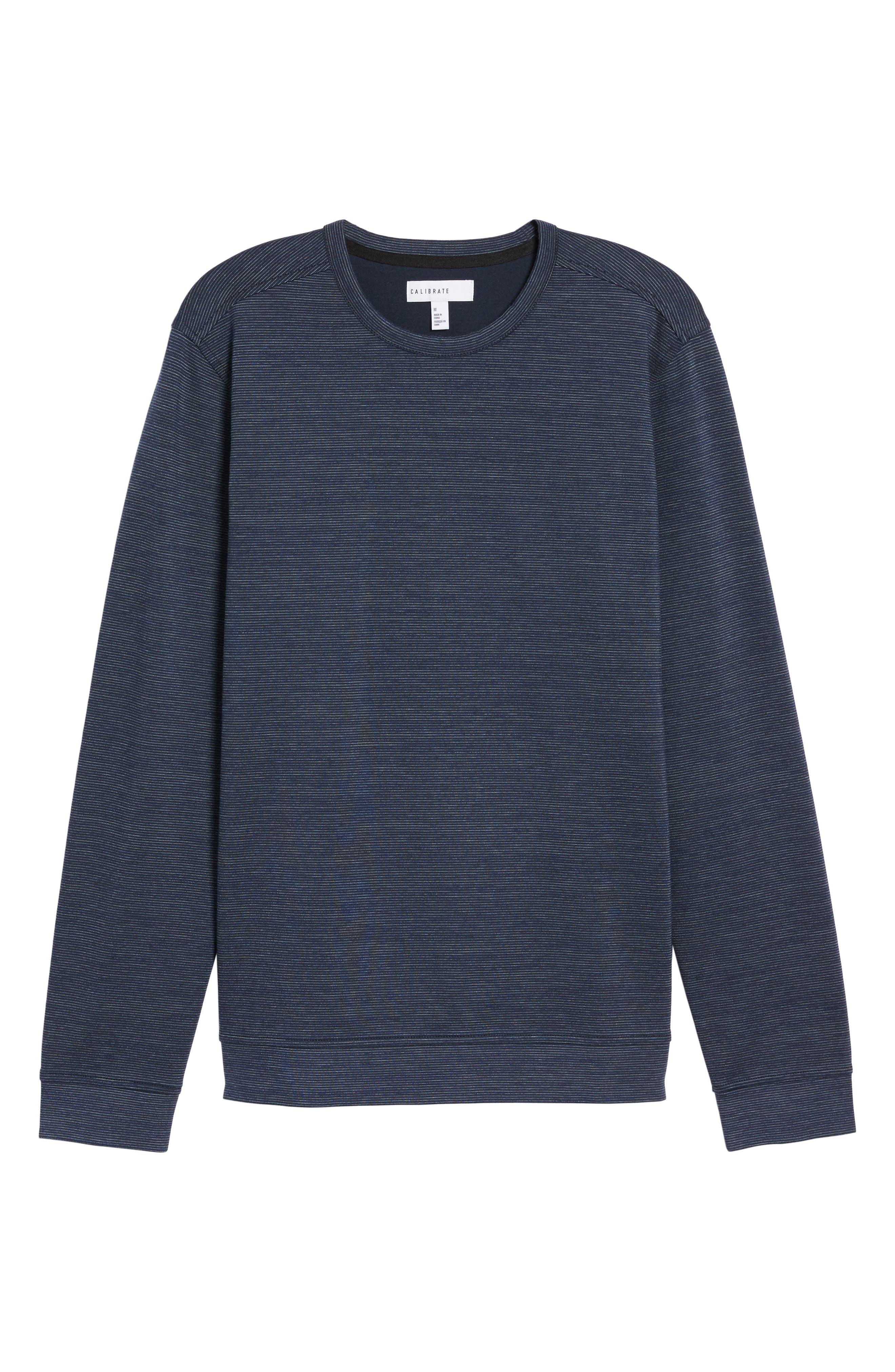 Space Dye Stripe Sweatshirt,                             Alternate thumbnail 6, color,                             Navy Night Spacedye