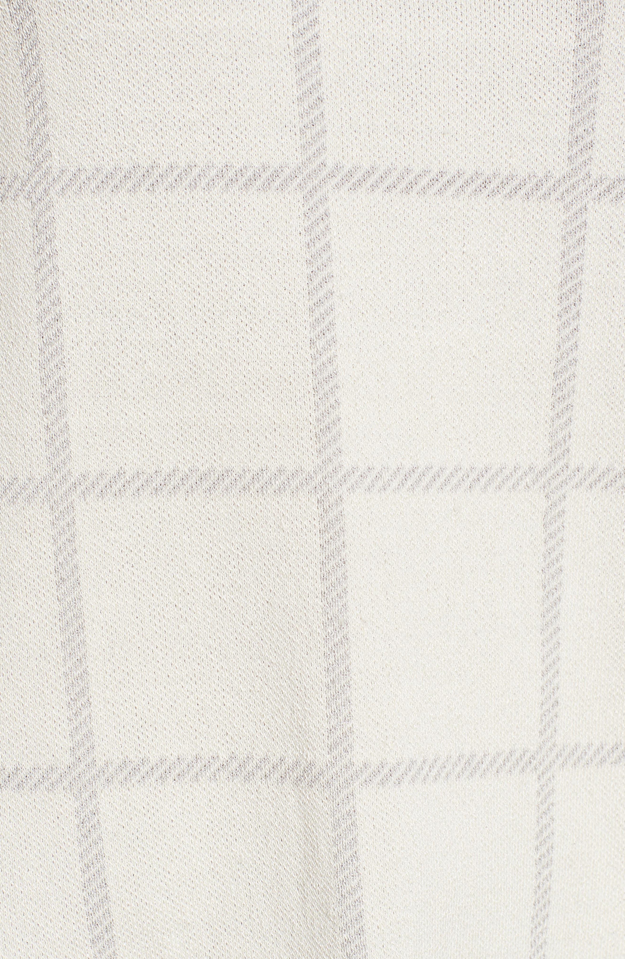 Alternate Image 5  - Eileen Fisher Windowpane Organic Linen Blend Top