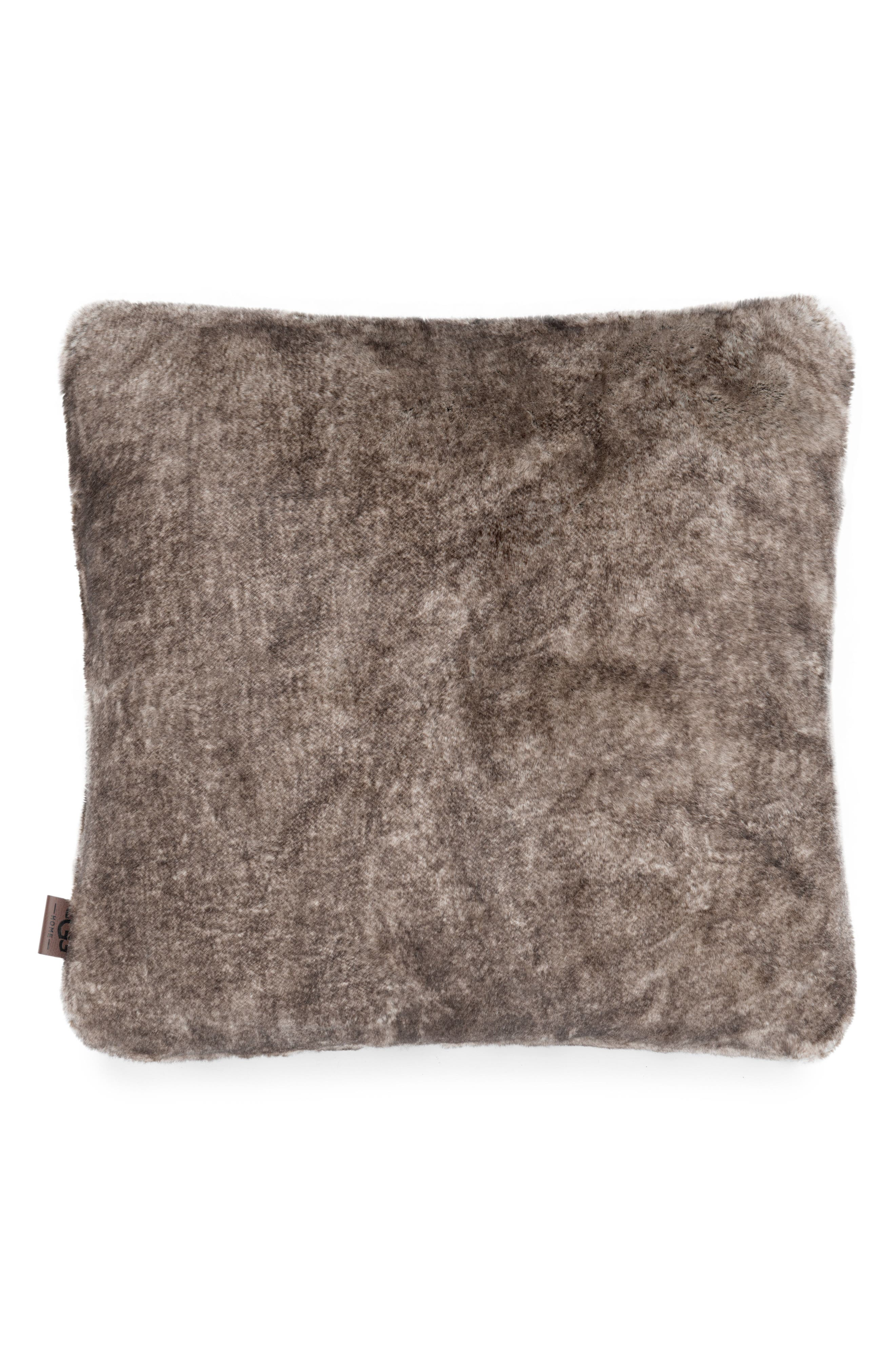 Dream Faux Fur Pillow,                         Main,                         color, Cocoa