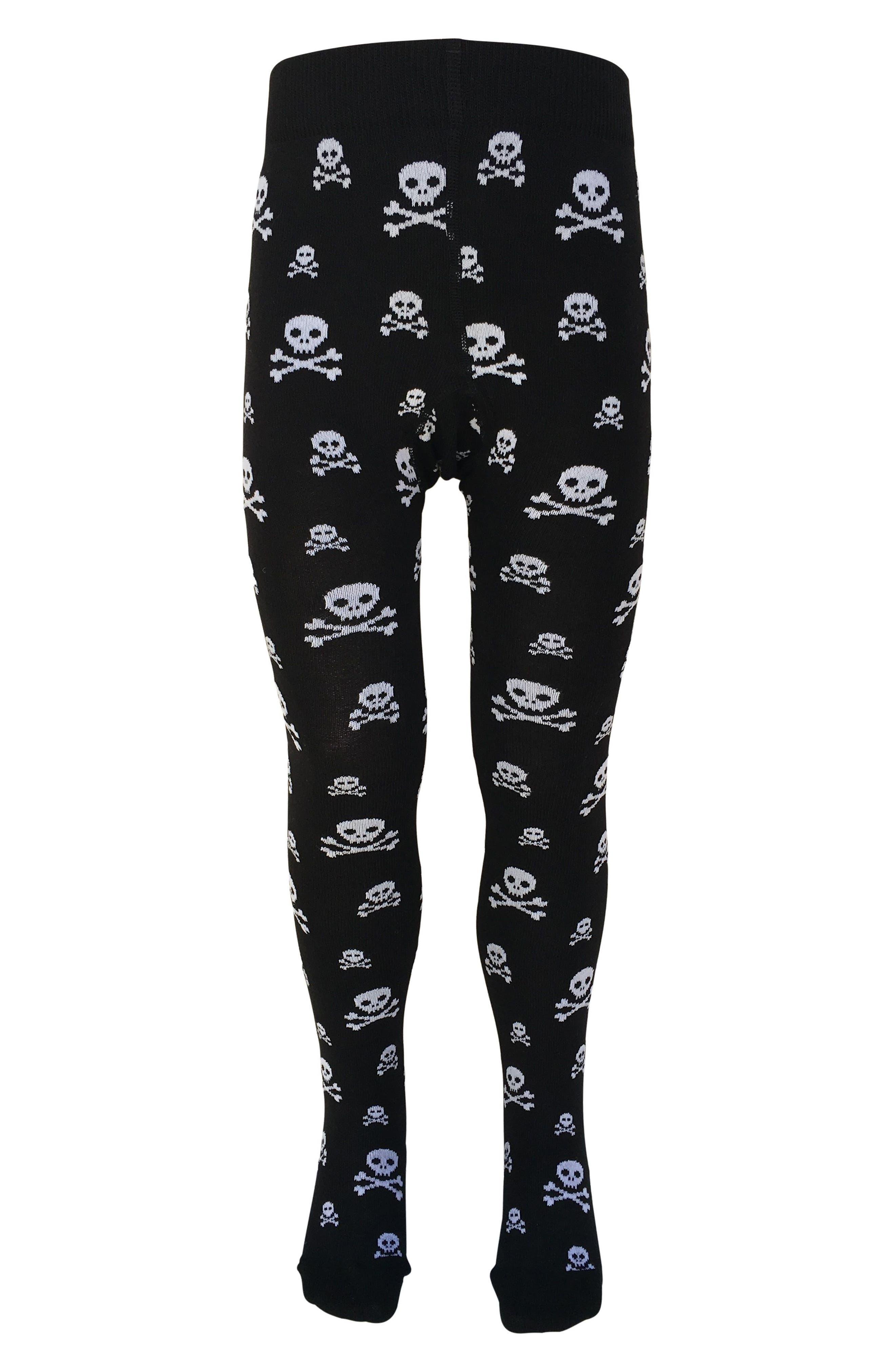 Skull Tights,                         Main,                         color, Black