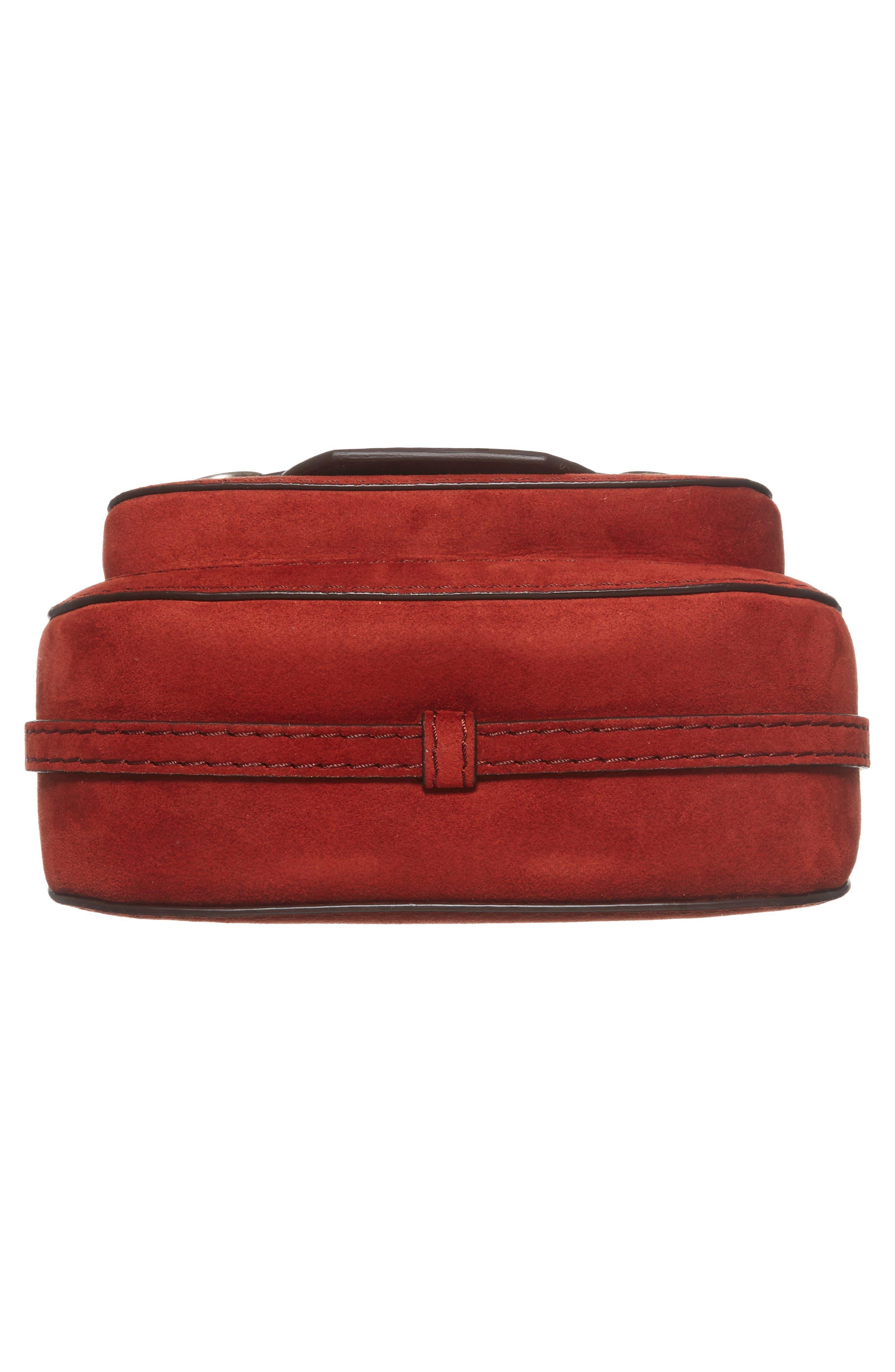Faux Leather Shoulder Bag,                             Alternate thumbnail 5, color,                             Henna