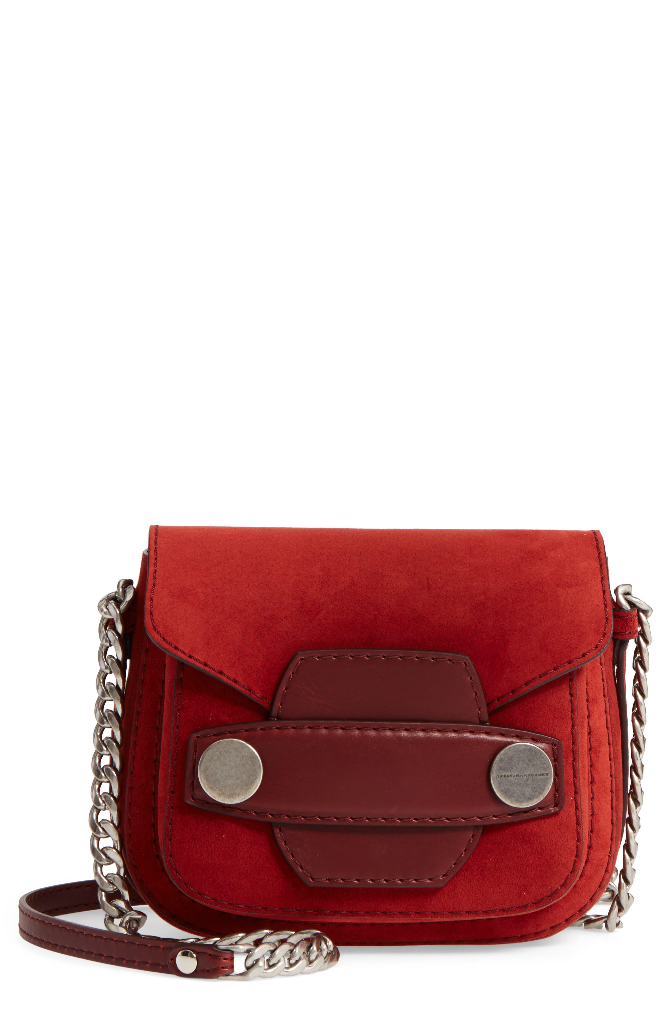 Faux Leather Shoulder Bag,                             Main thumbnail 1, color,                             Henna