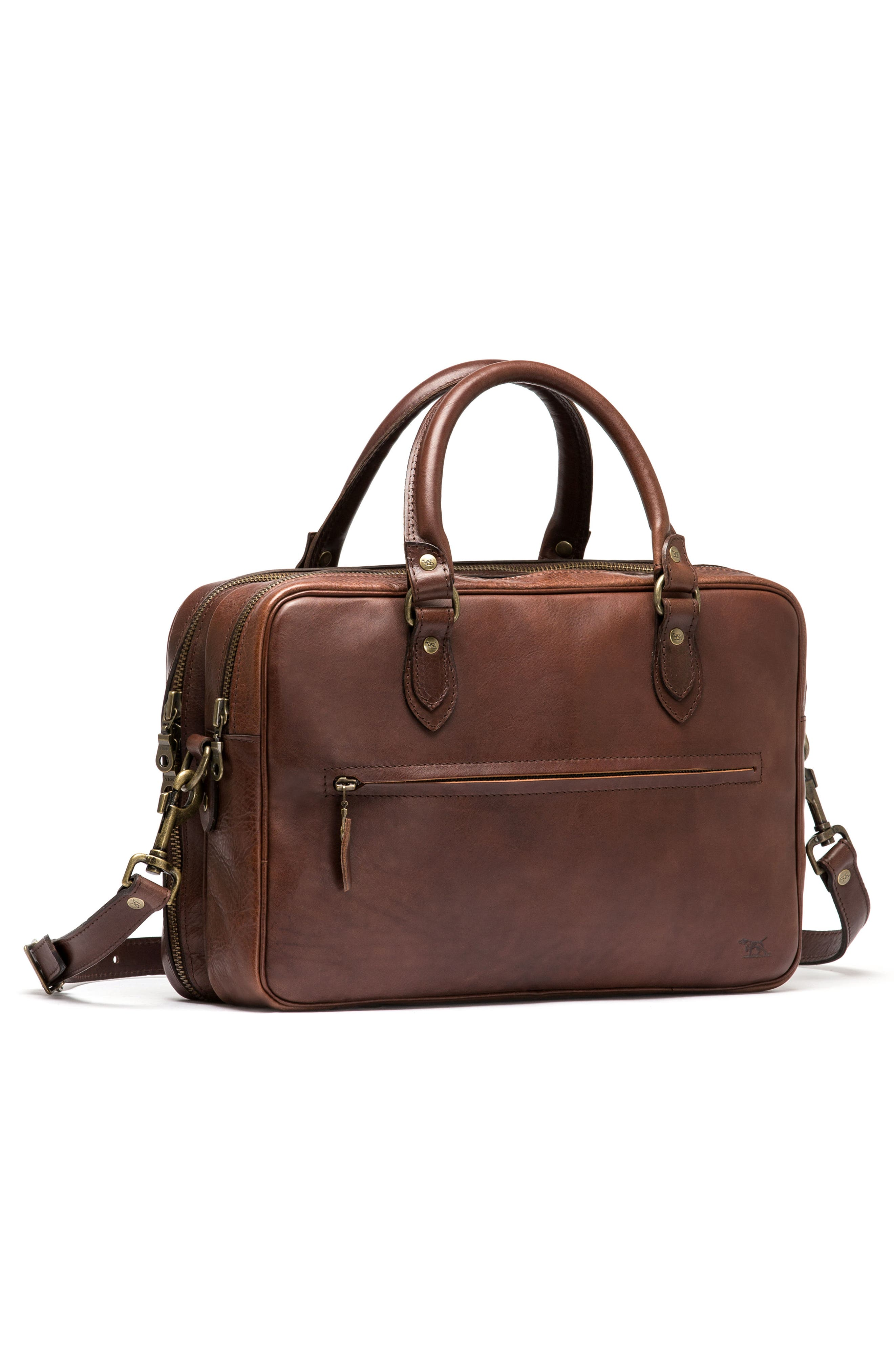 Britomart Leather Briefcase,                             Alternate thumbnail 9, color,                             Mud