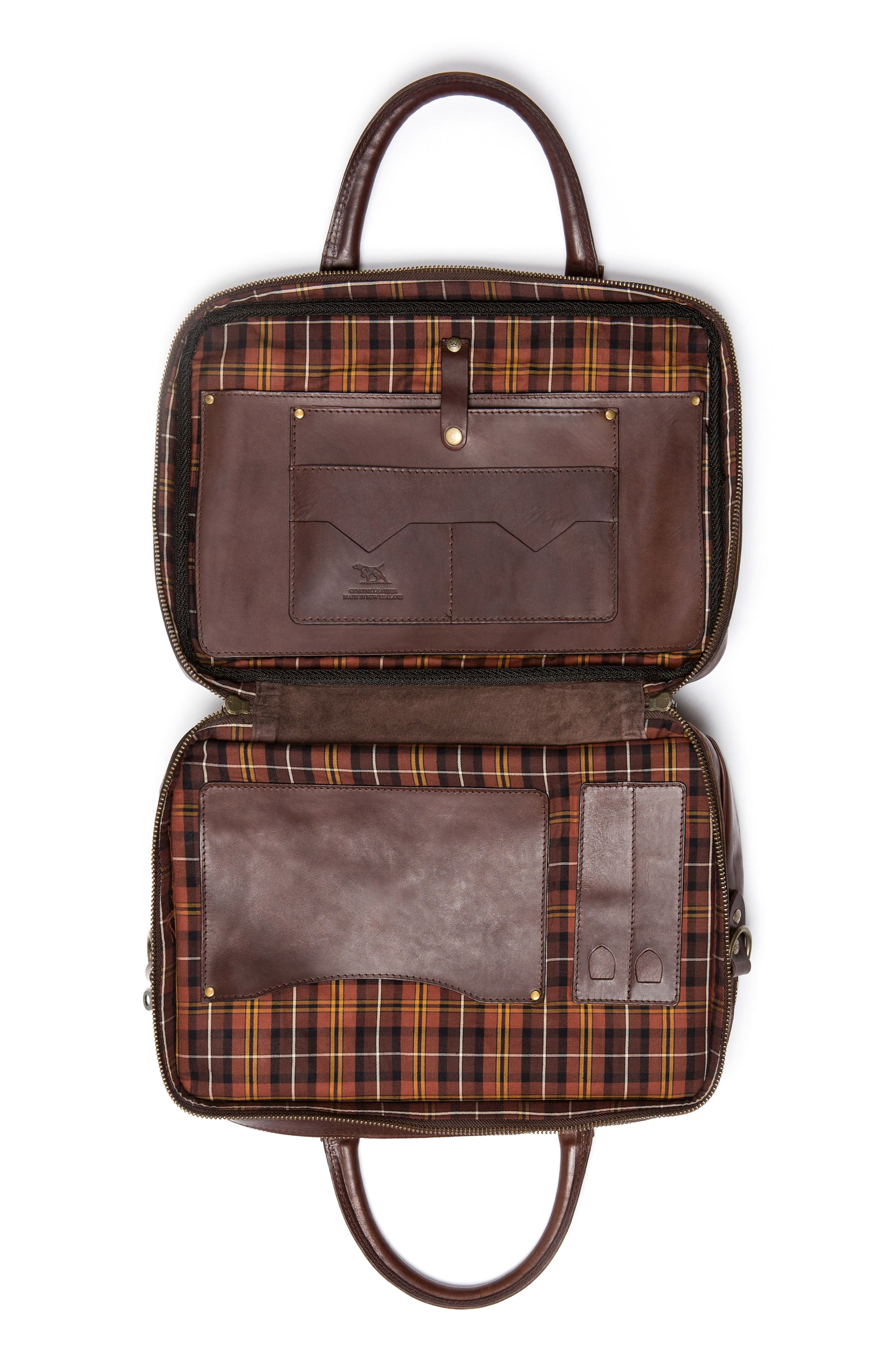 Britomart Leather Briefcase,                             Alternate thumbnail 4, color,                             Mud