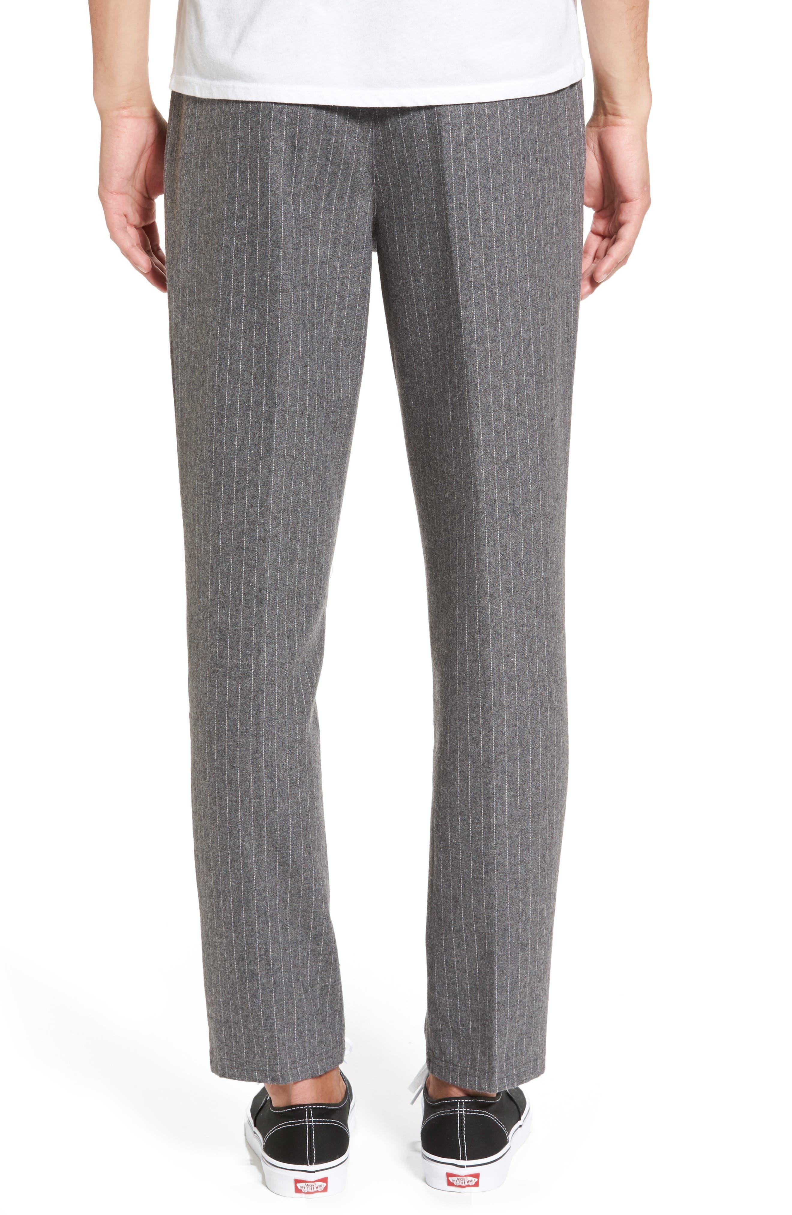 Pennyworth Pants,                             Alternate thumbnail 2, color,                             Charcoal Pinstripe