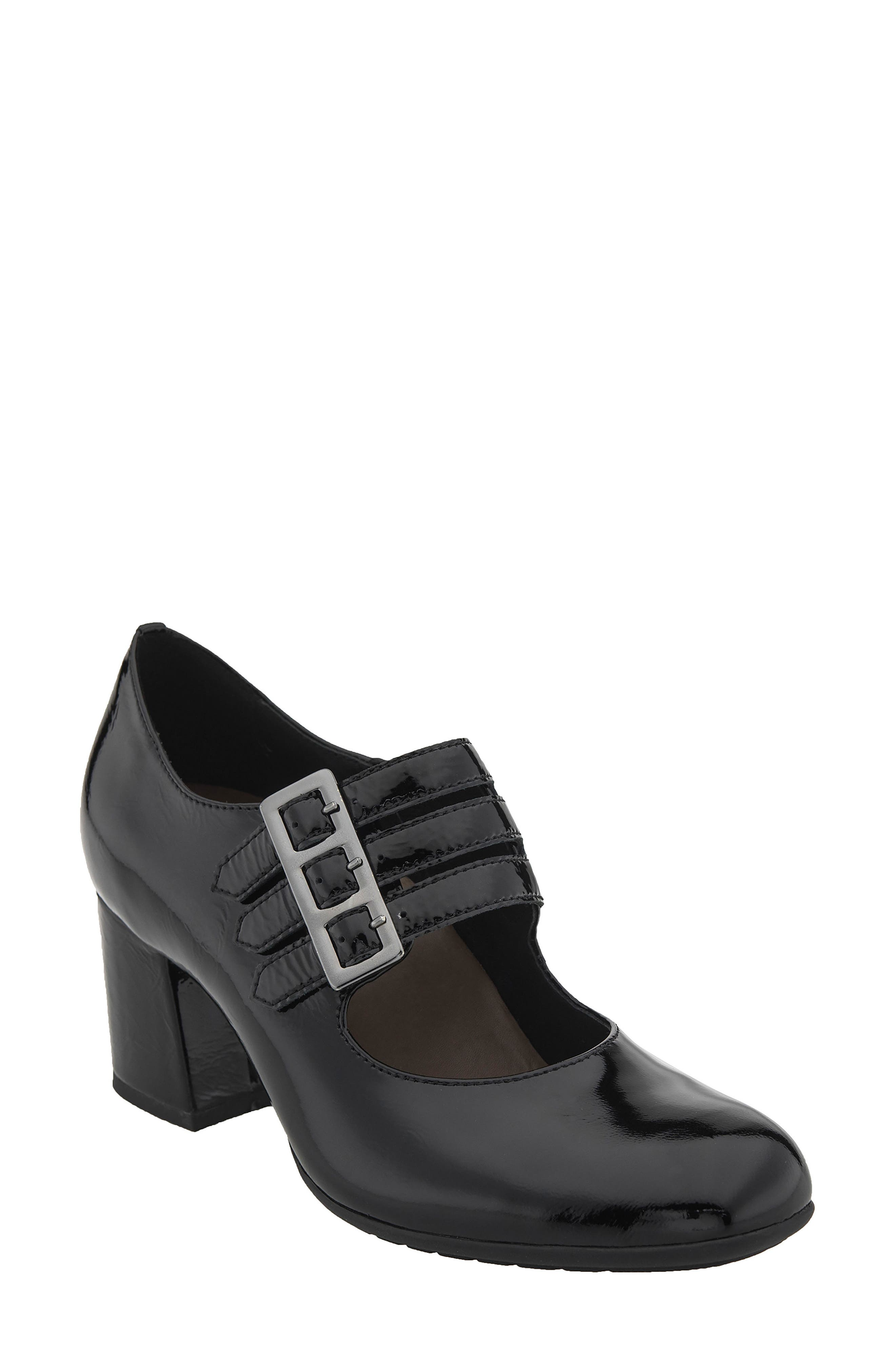 Fortuna Mary Jane Pump,                             Main thumbnail 1, color,                             Black Patent Leather