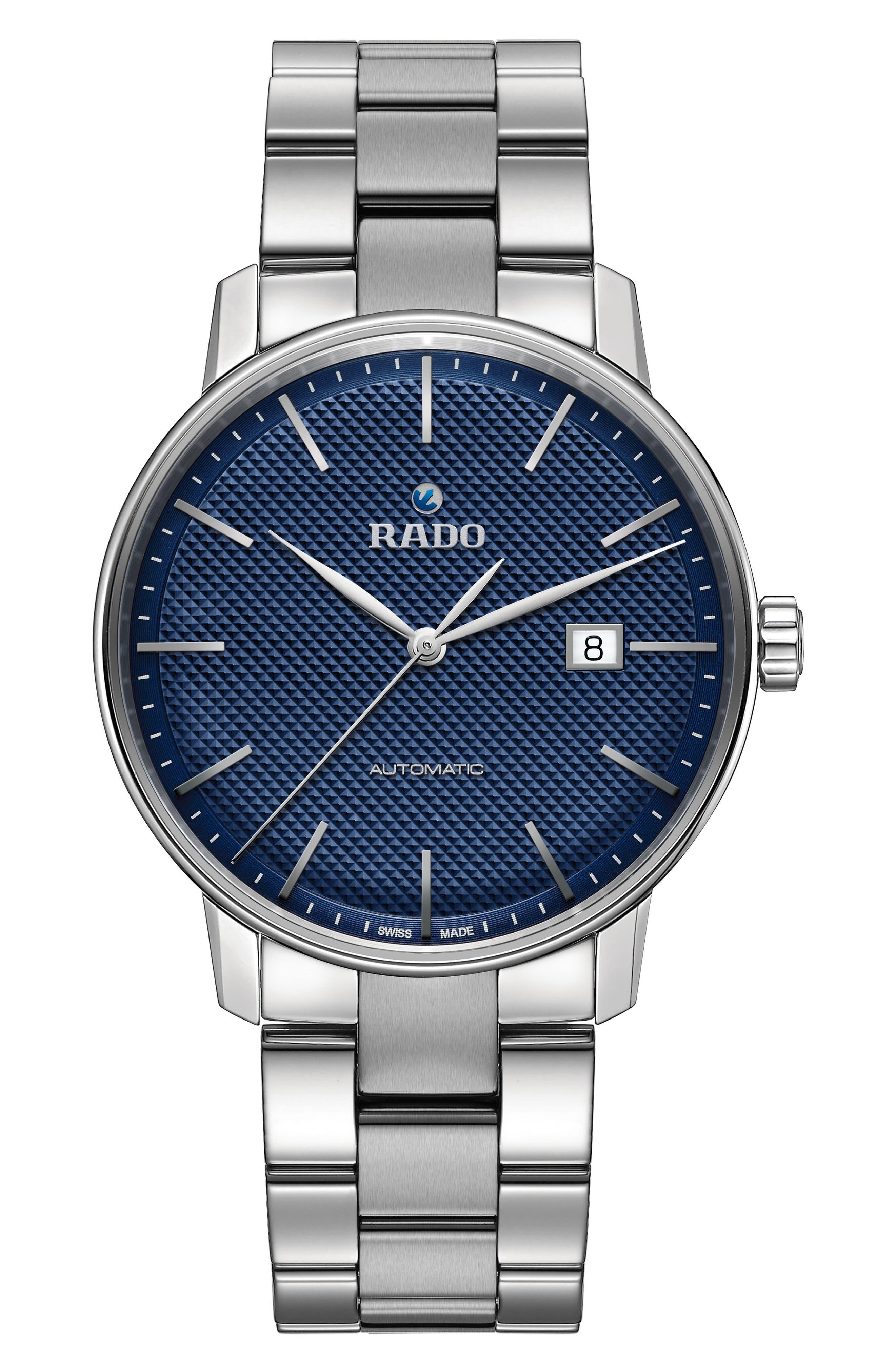 Coupole Classic Automatic Bracelet Watch, 41mm,                             Main thumbnail 1, color,                             Silver/ Blue/ Silver