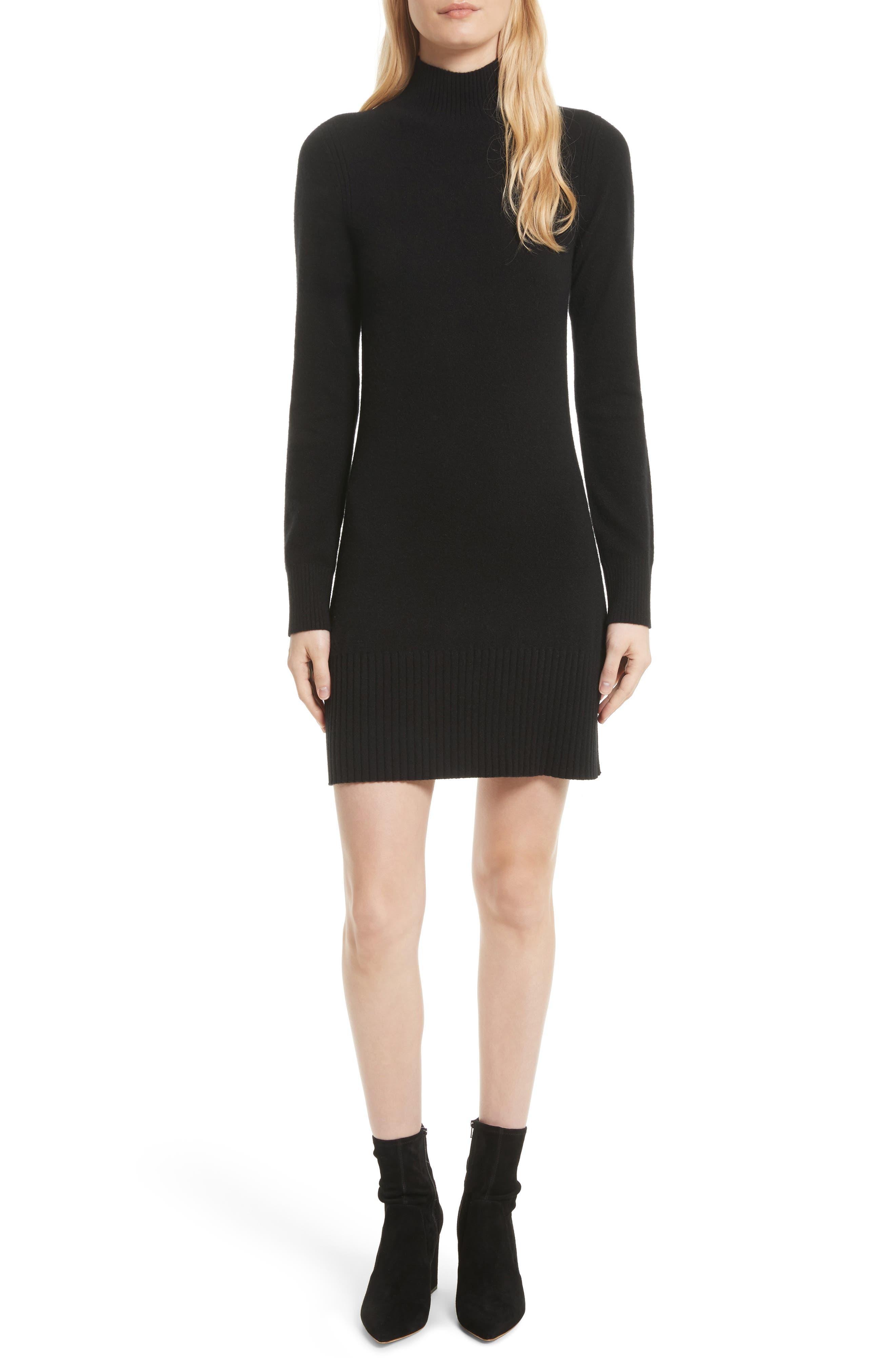 FRAME Turtleneck Cashmere Sweater Dress