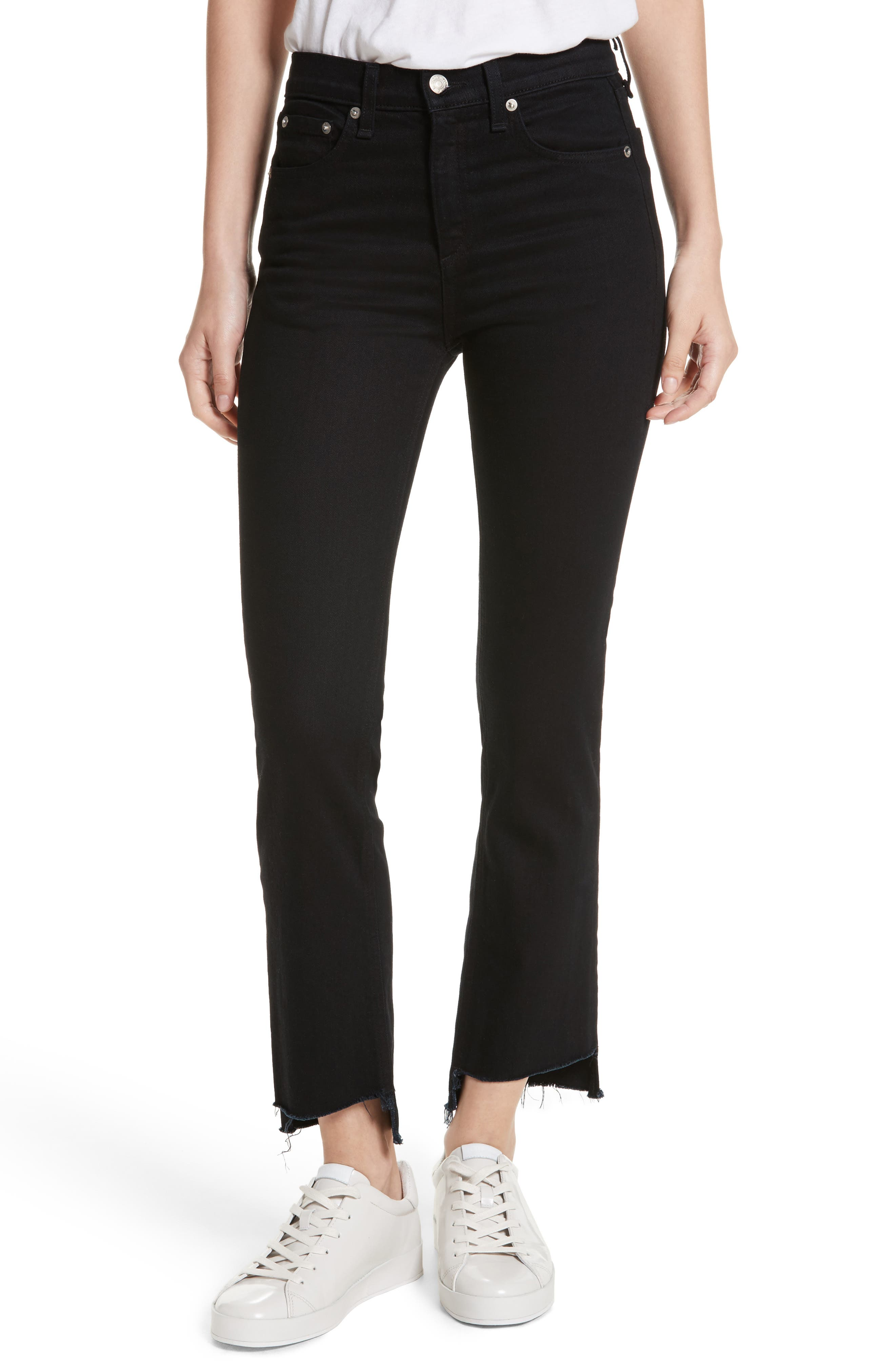 Alternate Image 1 Selected - rag & bone/JEAN High Waist Stovepipe Jeans (Byan)